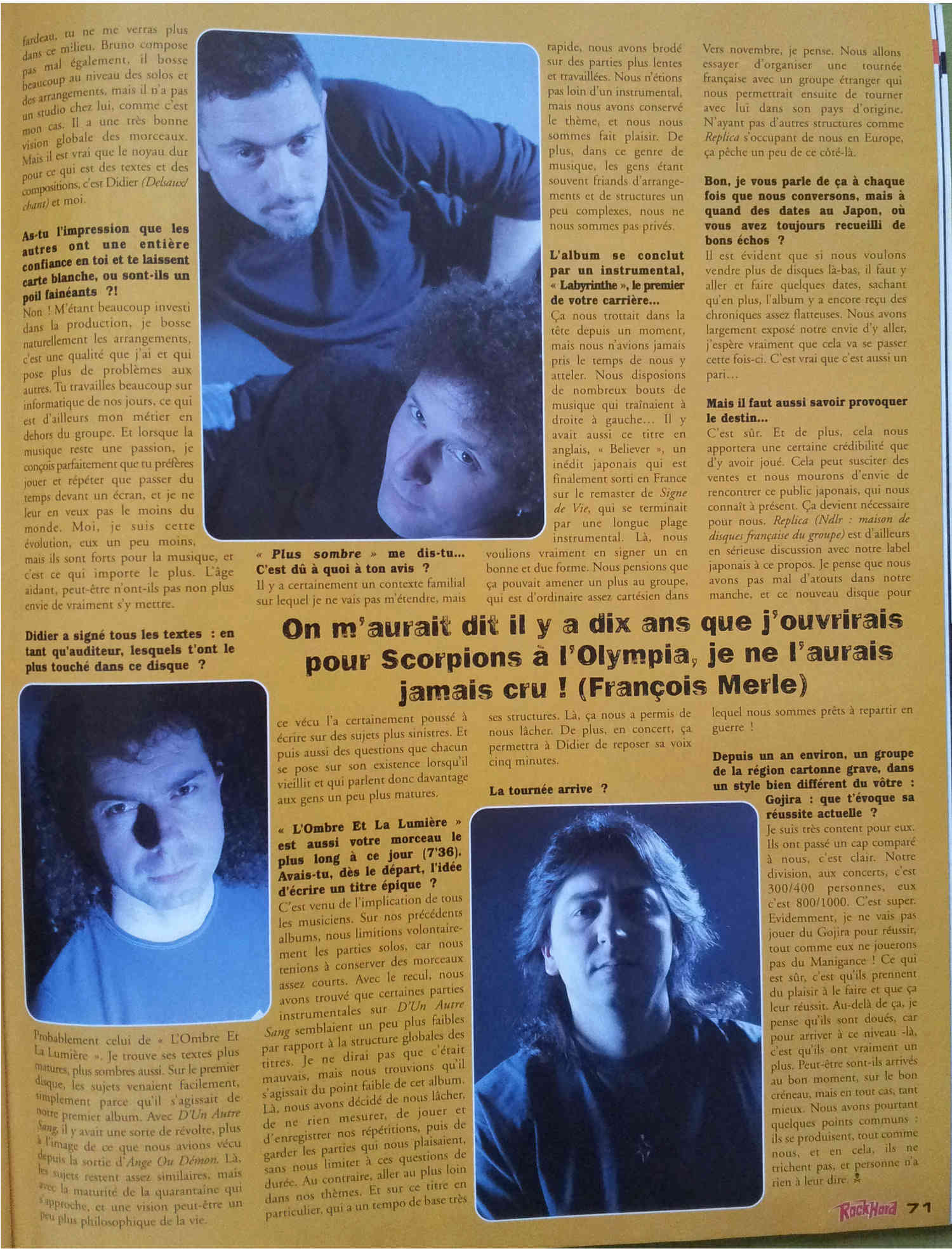 Interview MANIGANCE sur ROCK HARD n°56 JUIN 2006 (Archive) 327