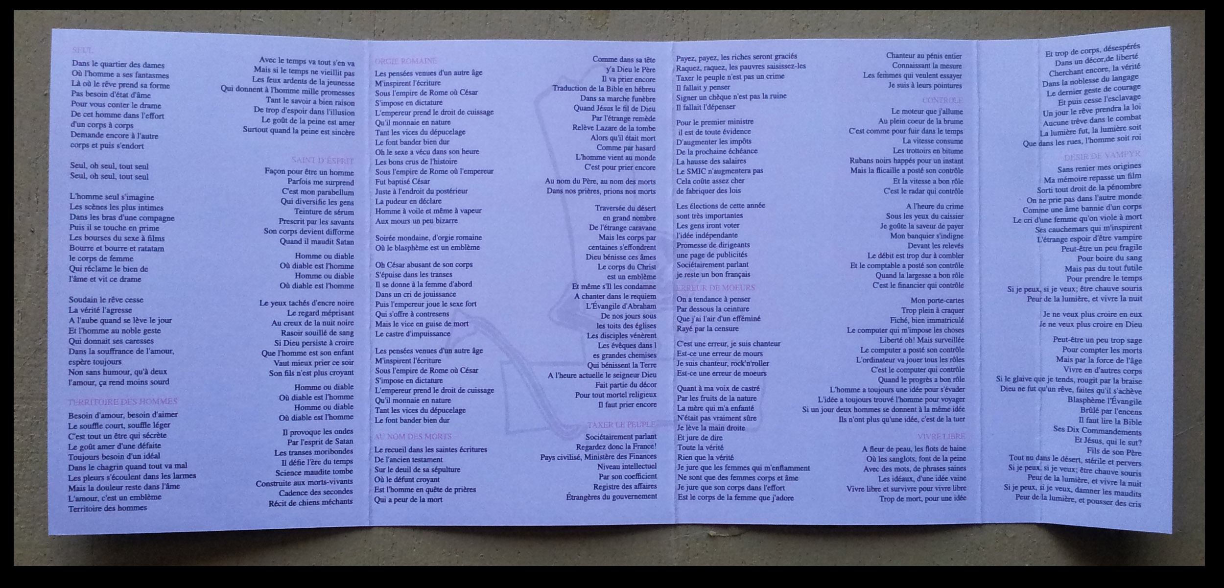 """reédition en cassette BLASPHEME """"désir de vampire"""" Christophe Bailet 328"""