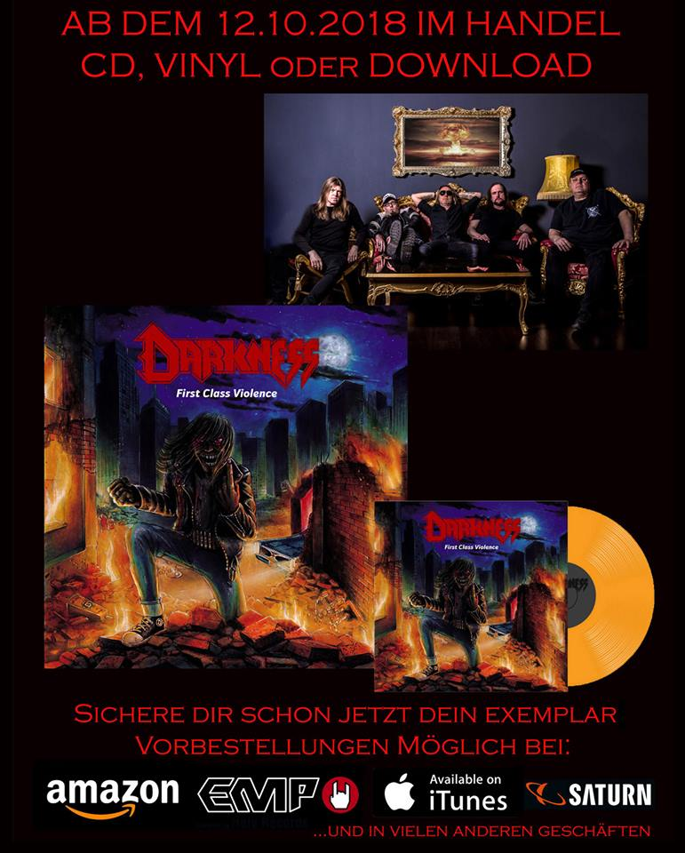DARKNESS First Class Violence (2018) Thrash ALLEMAGNE 41751510