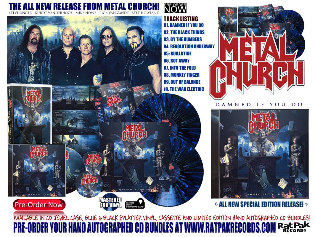 METAL CHURCH Damned If You Do (2018) Heavy/Speed USA 43083210