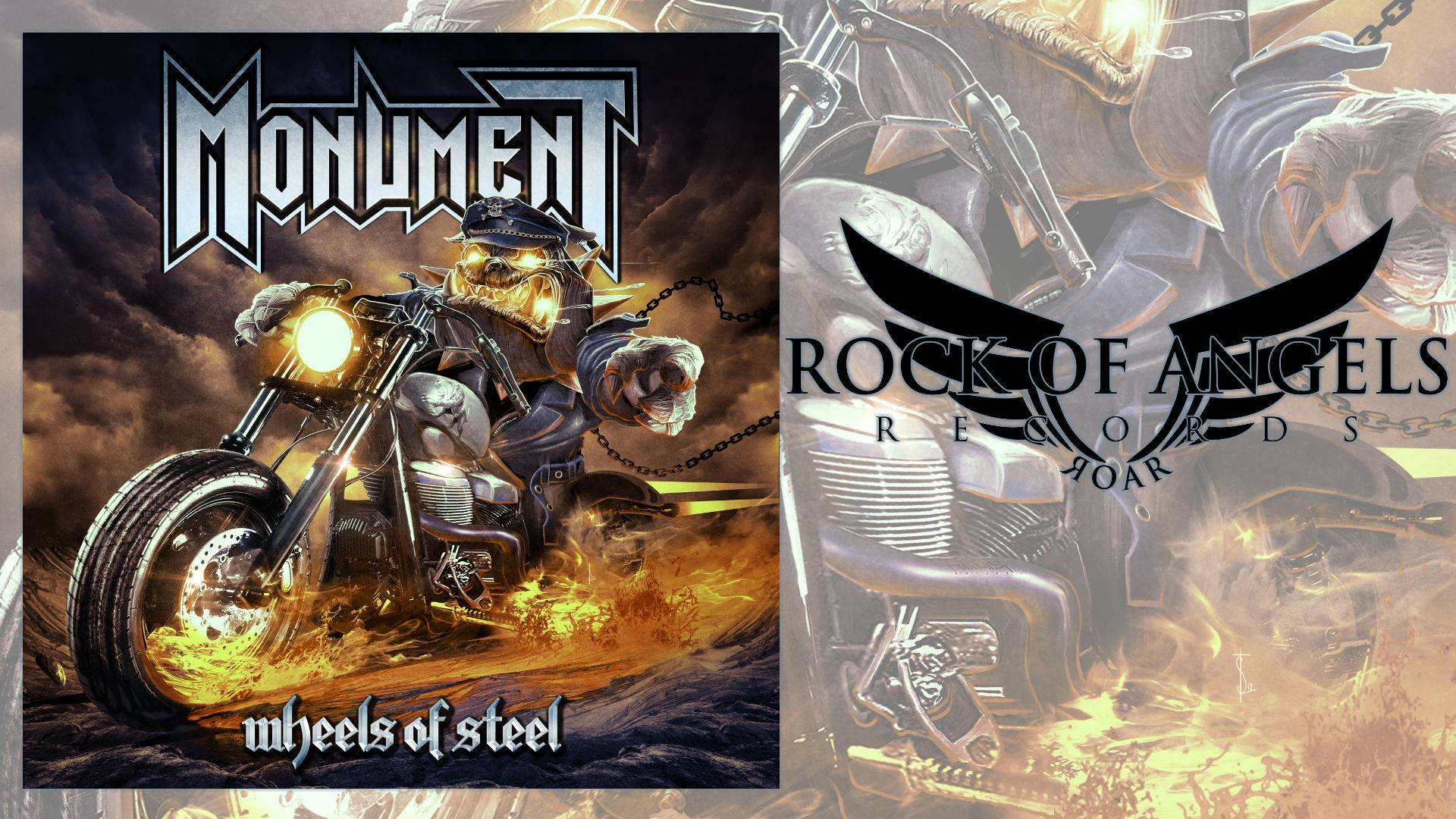 MONUMENT Wheels Of Steel (2018) Heavy Metal Angleterre Nouveau clip 43592810
