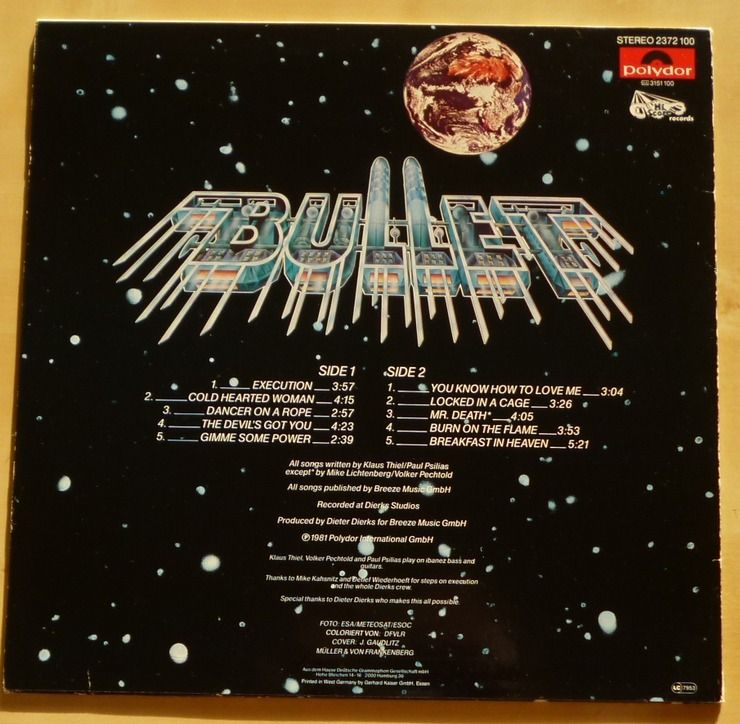 Bullet - No Mercy - 1983 - Allemagne 43902411