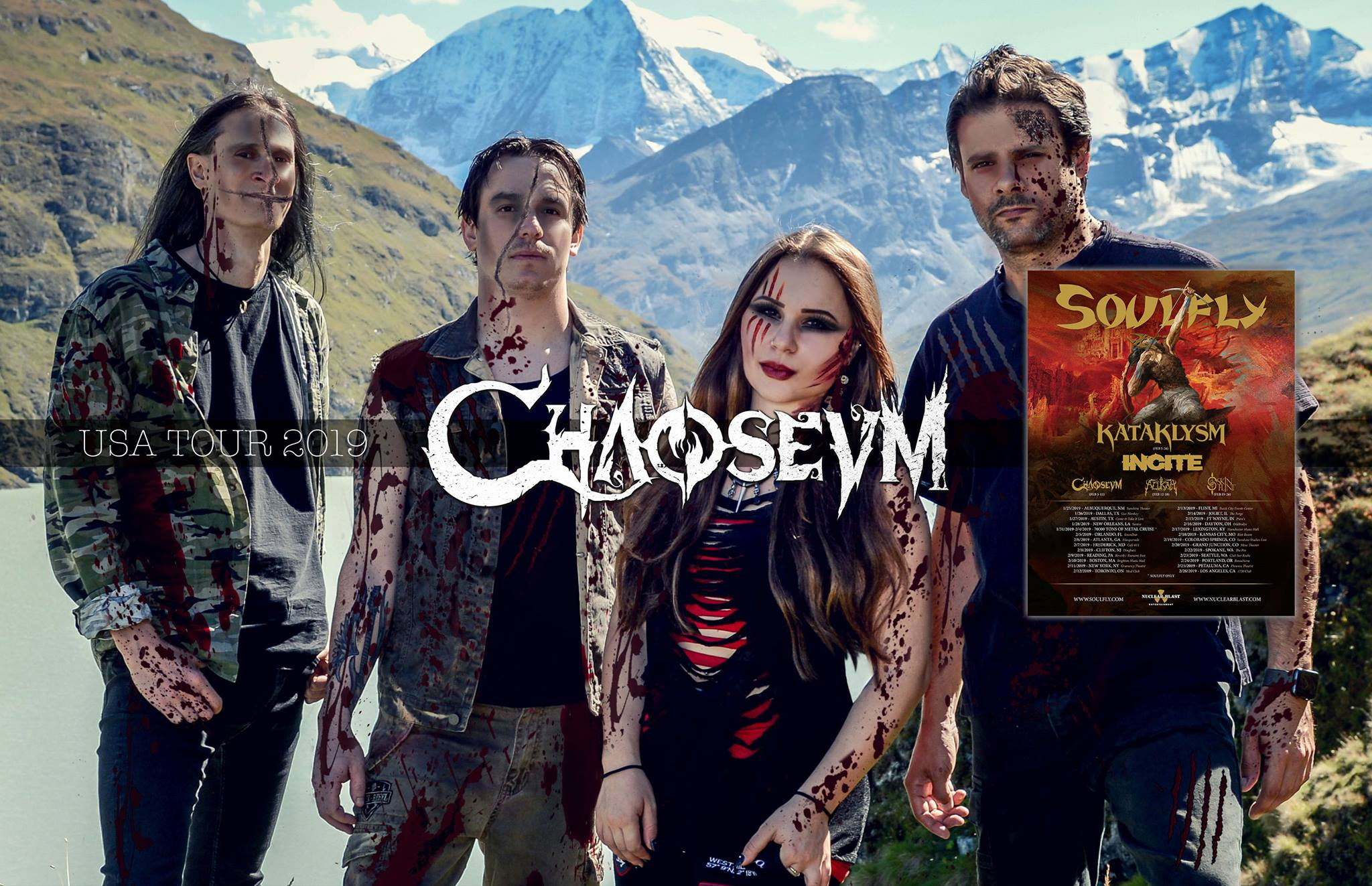 CHAOSEUM First Step to Hell (2018) Modern Melodic Death/Thrash Metal (Front Woman) SUISSE  44157310
