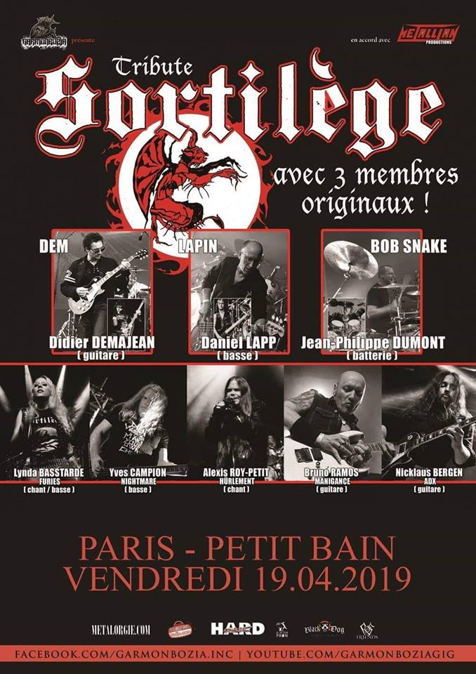 Tribute SORTILEGE le vendredi 19 avril 2019 au PETIT BAIN (Paris) 48368210