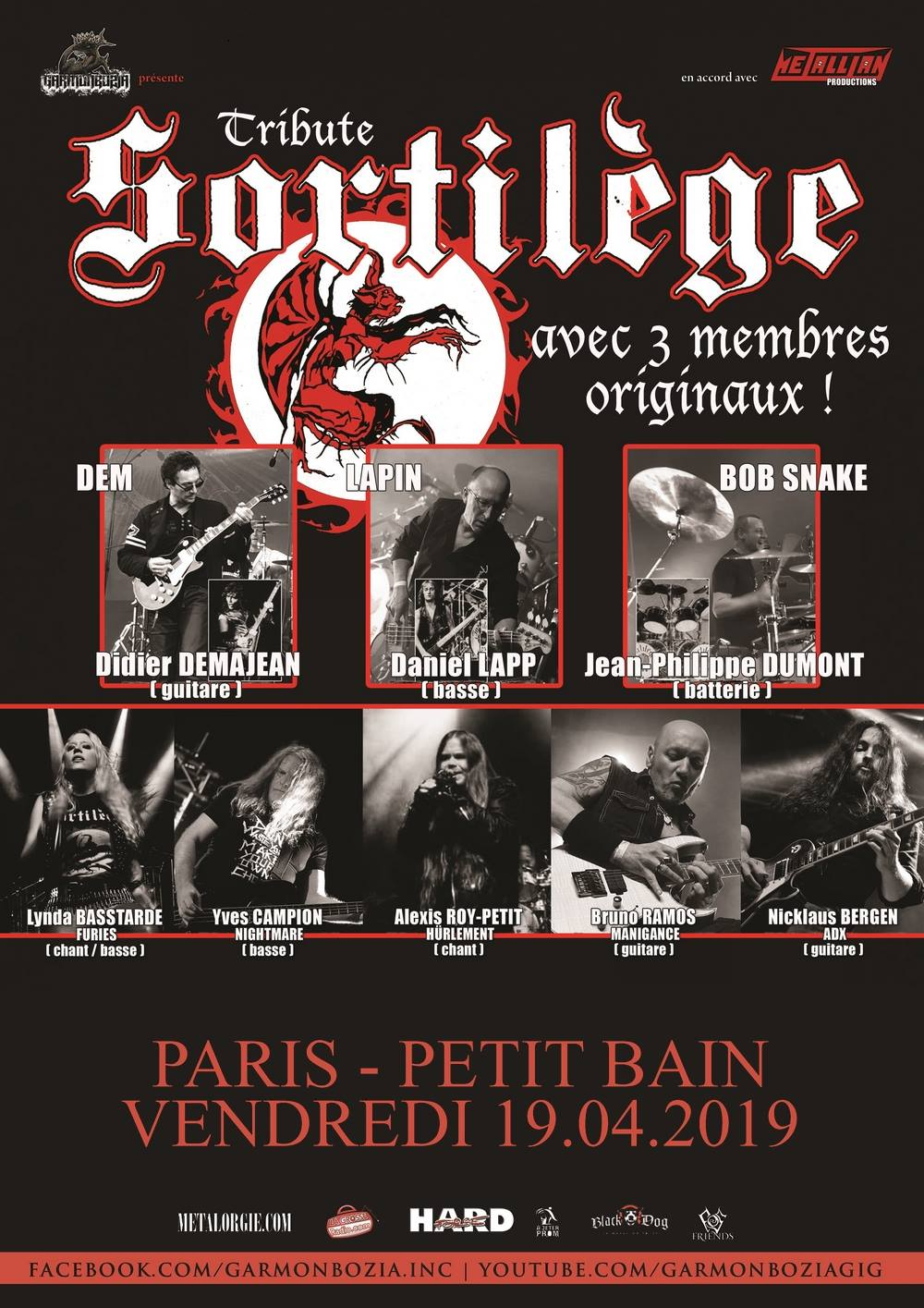 FERNANDO ROCK SHOW : Tribute SORTILEGE live au Petit Bain le Vendredi 19 Avril 2019   48383510