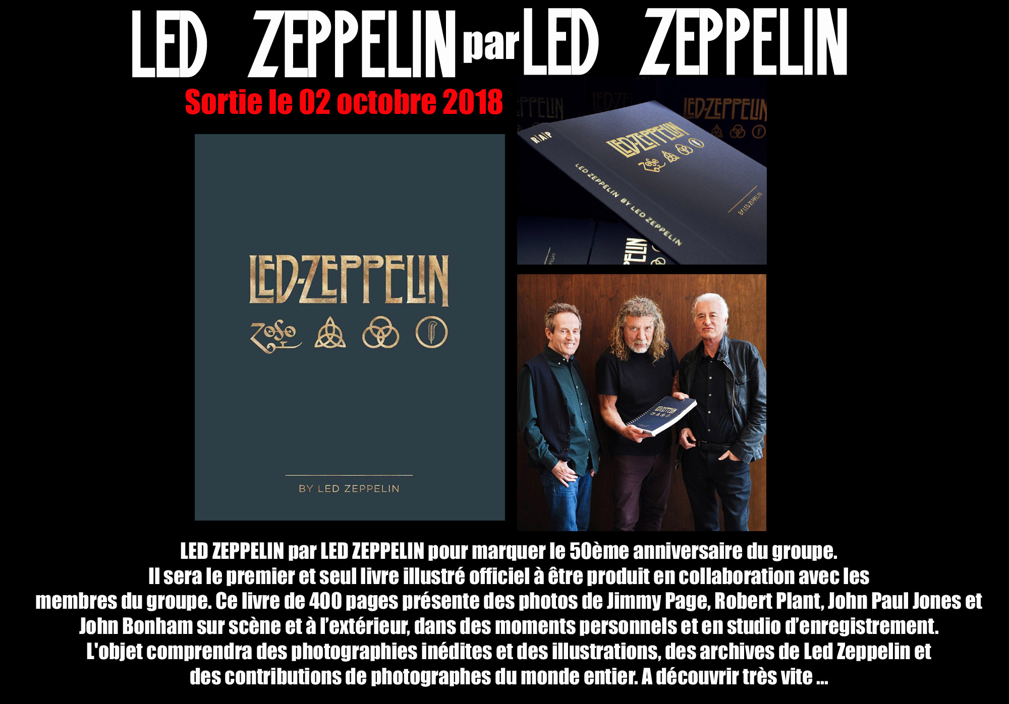 LED ZEPPELIN par LED ZEPPELIN Le livre officiel en collaboration avec le groupe ... (2018) 512
