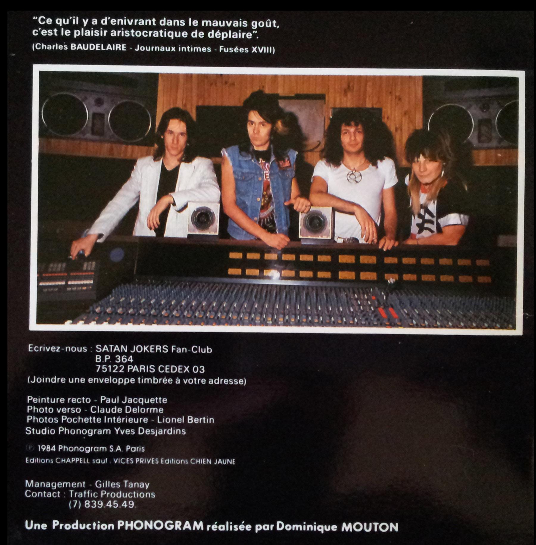 SATAN JOKERS Trop fou pour toi (1984) le vinyle vu de plus près ... 518