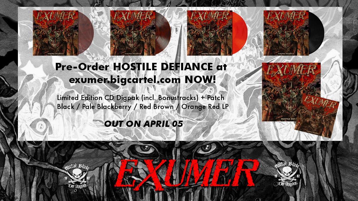 EXUMER Hostile Defense (2019) Thrash Allemagne 51970210