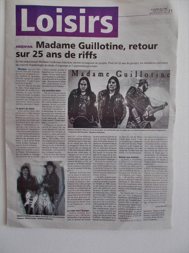 MADAME GUILLOTINE prévoit un gros concert pour ses 25 ans ... 57821610