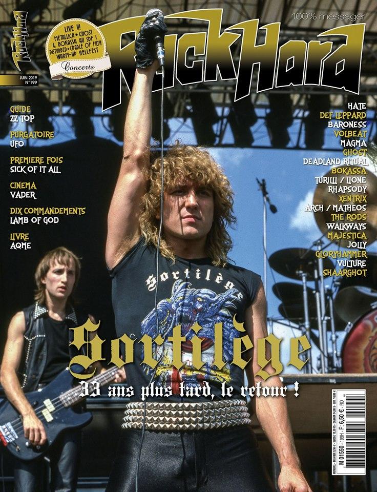 ROCK HARD donne une couverture à Sortilège ce mois-ci ! 62169710