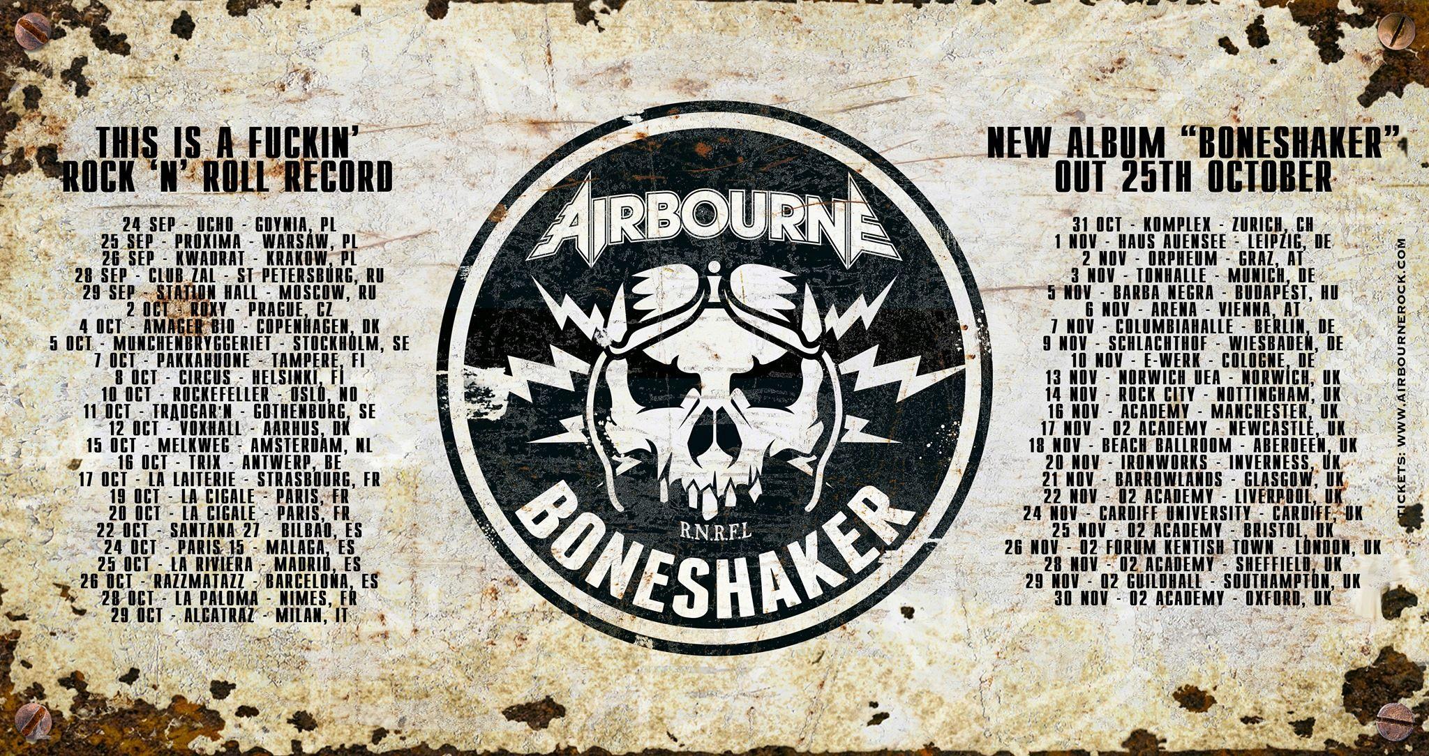 AIRBOURNE Boneshaker (2019) Hard Rock Australie 69489310