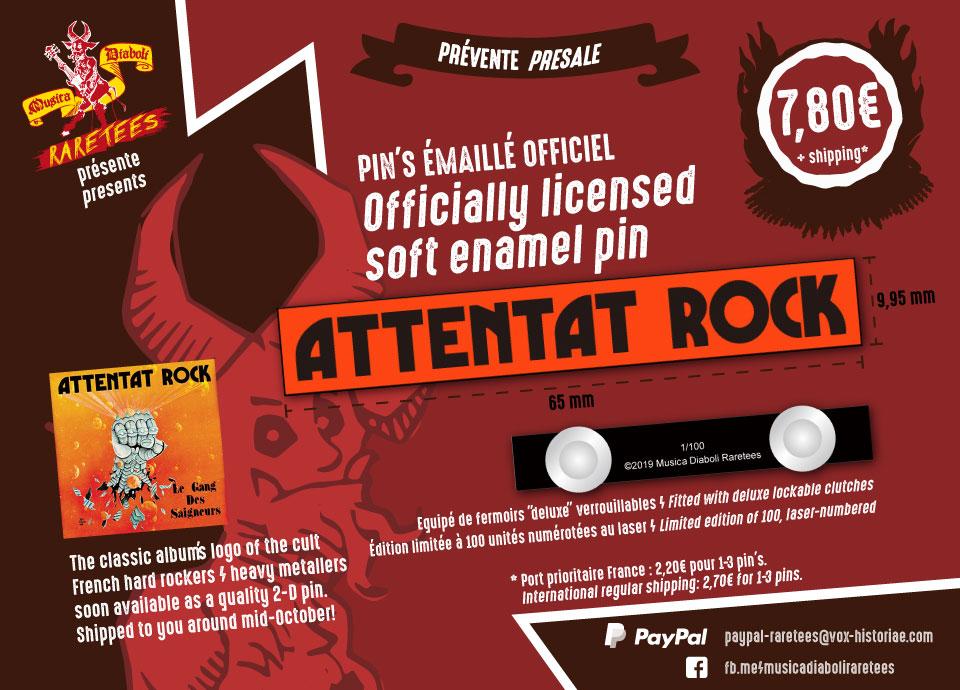 Musica Diaboli Raretees sort un PIN'S ATTENTAT ROCK ! 72532210
