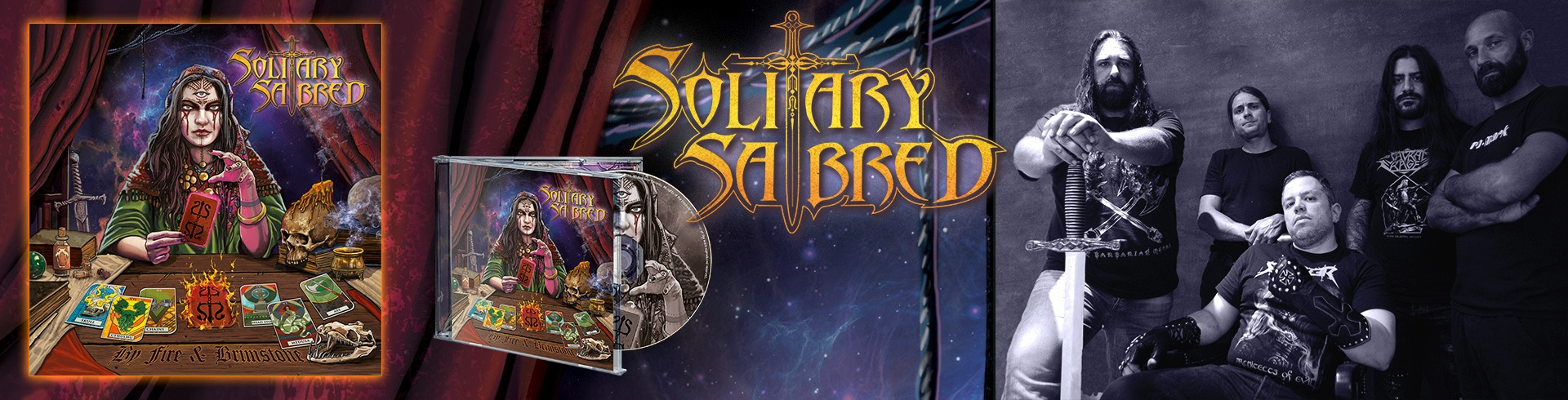 SOLITARY SABRED By Fire & Brimstone (2020) Heavy/Power CHYPRE 85063110