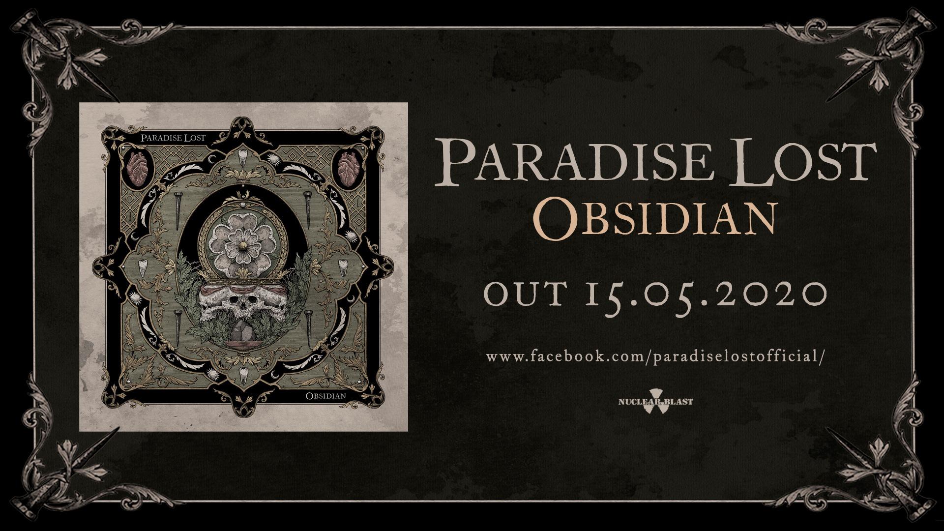 PARADISE LOST Obsidian (2020) Gothic Metal U.K 89511110