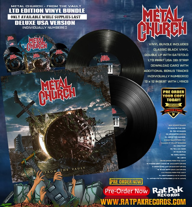 METAL CHURCH From The Vault (2020) Compilation en édition spéciale Thrash/Heavy U.S.A 89734810