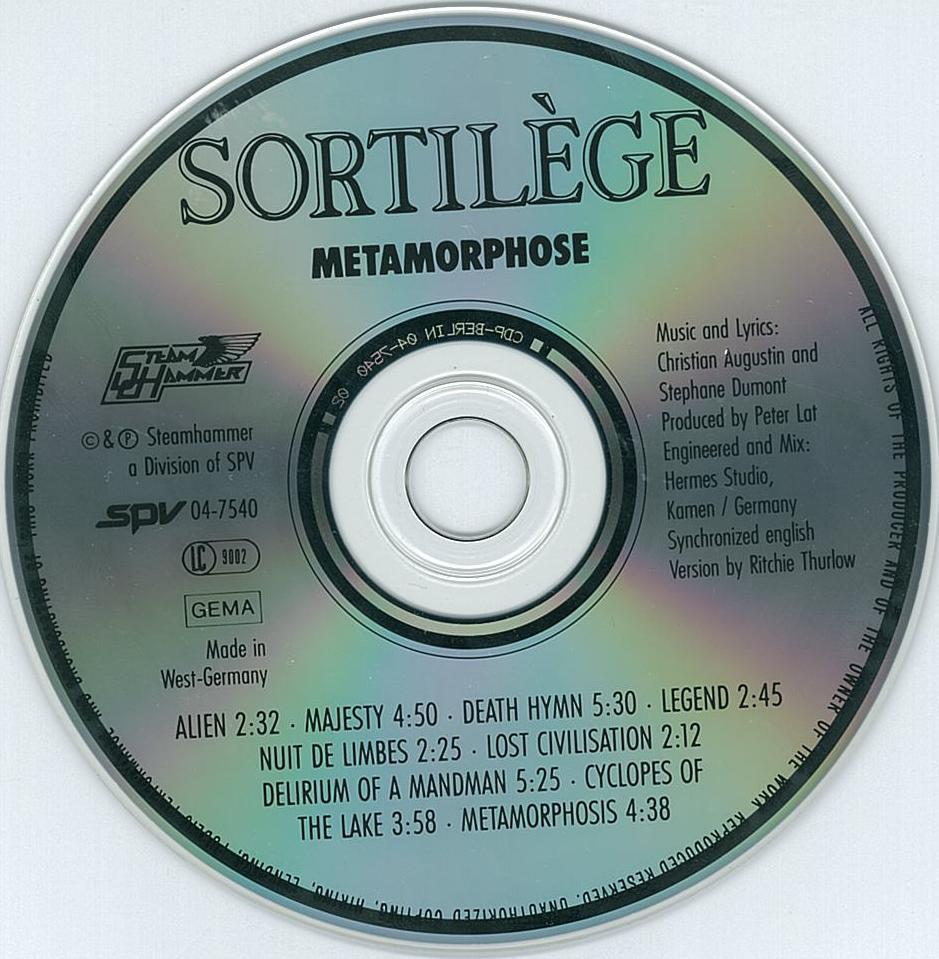Deux éditions anciennes de SORTILEGE chez SPV ... 8ab71f10
