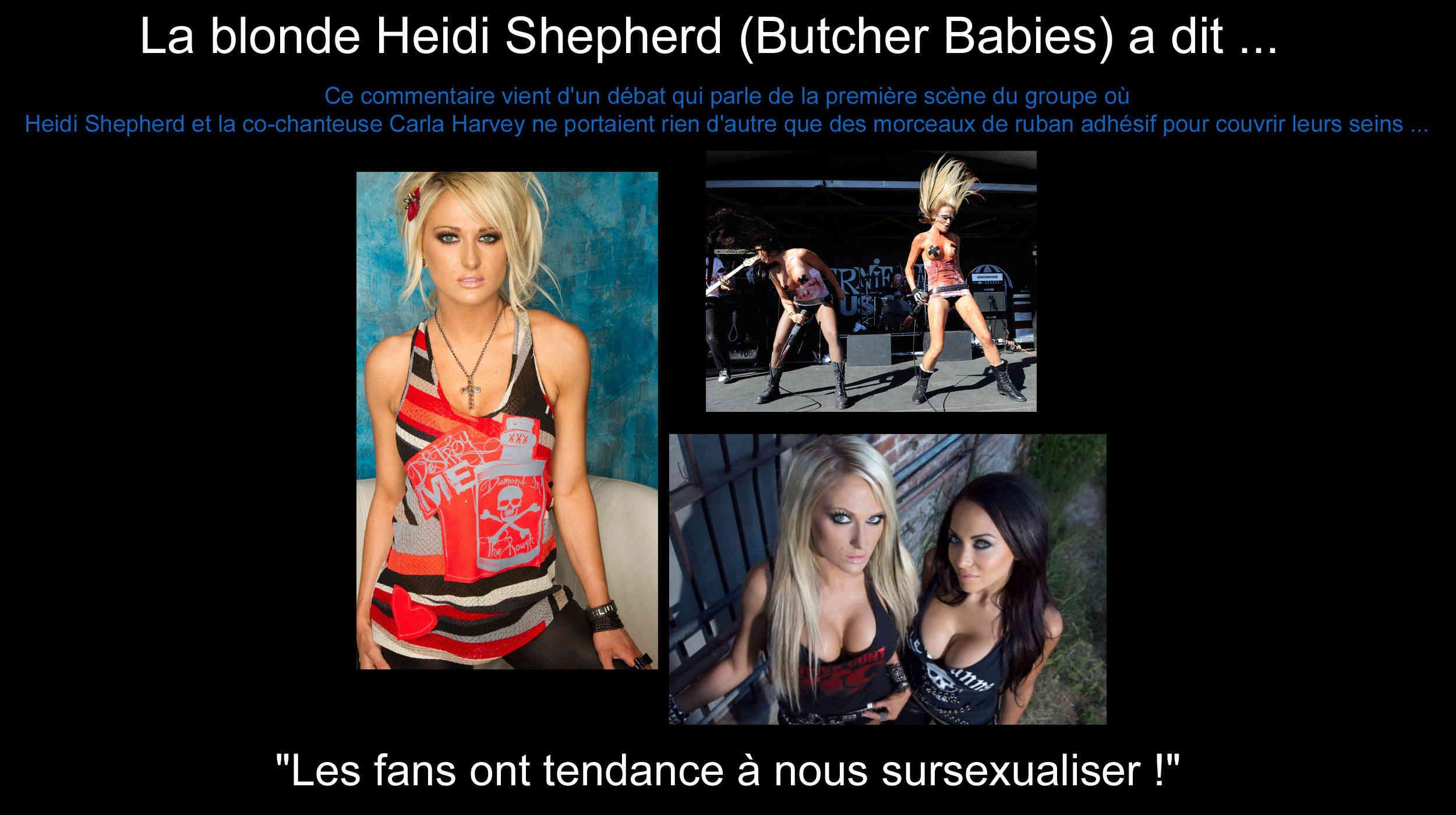 La blonde Heidi Shepherd (Butcher Babies) a dit ... sur l'image qu'elle renvoit avec sa co-chanteuse ... 8ab9f010