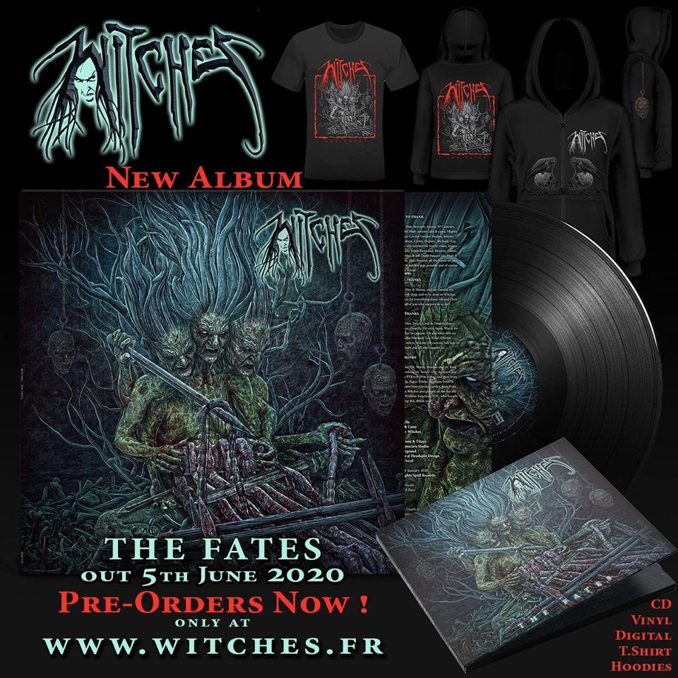 """WITCHES (Thrash) annonce un nouvel album : """"The Fates"""" 95849611"""