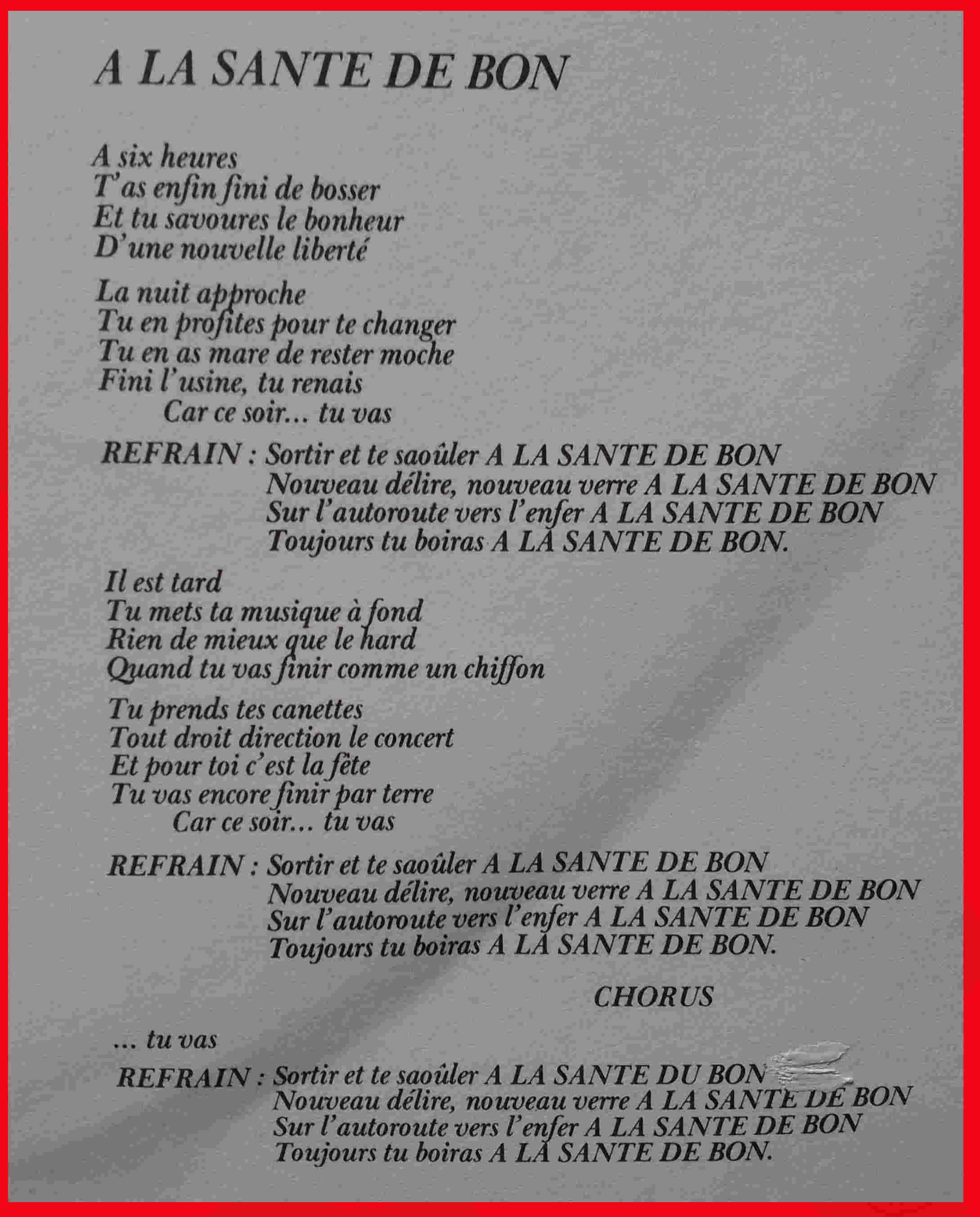 KILLERS A la santé de Bon (1986) Paroles A_la_s10