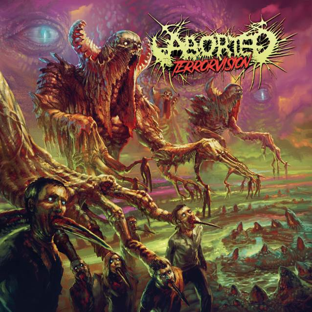 ABORTED TerrorVision (2018) Death Metal BELGIQUE Aborte10