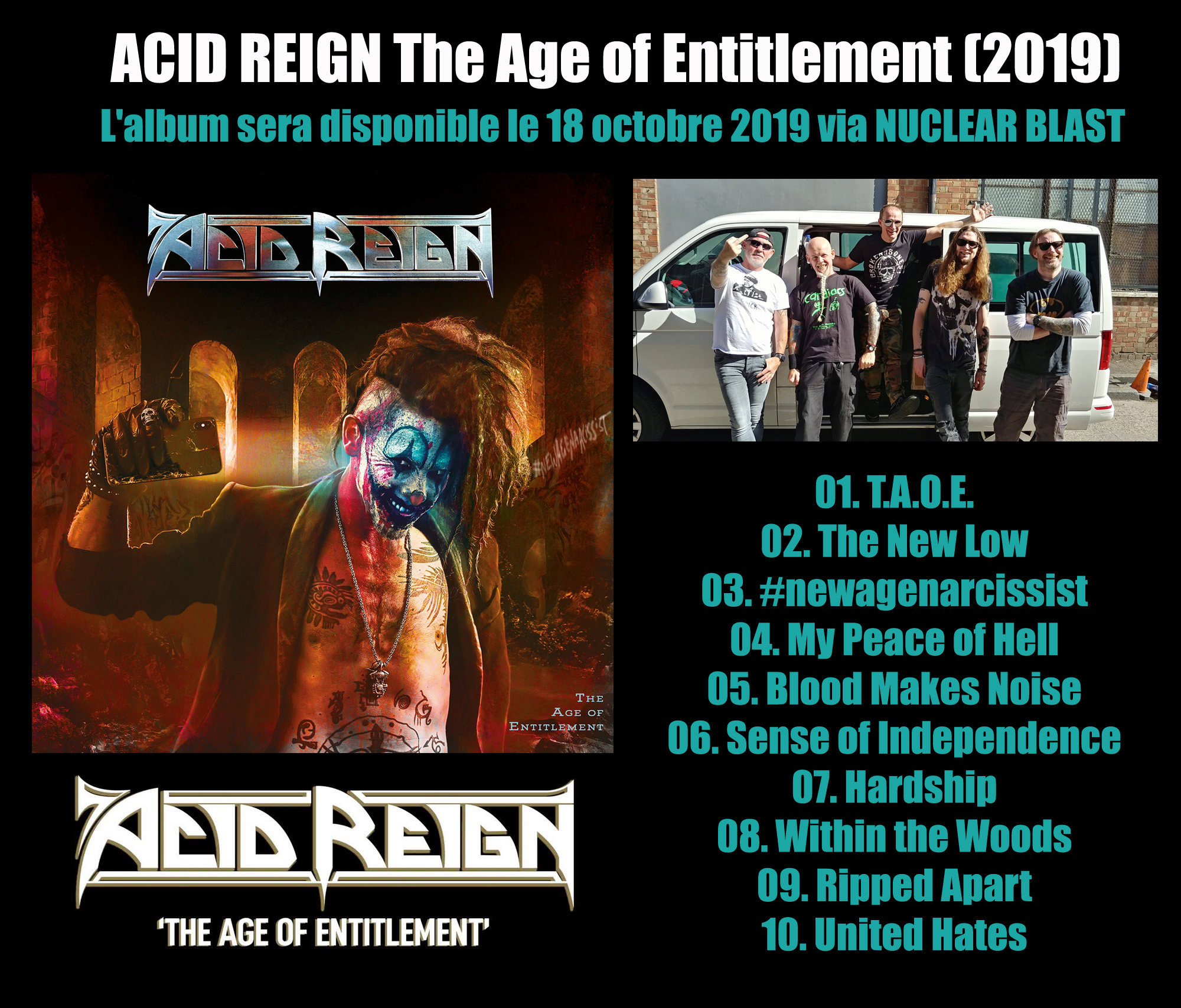 ACID REIGN The Age Of Entitlement (2019) Thrash Angleterre Acid_r10