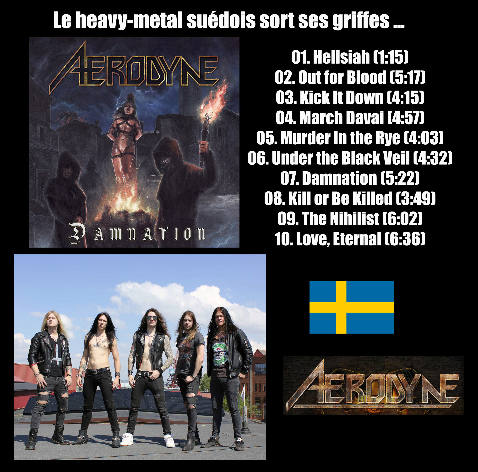 AERODYNE Damnation (2019) Heavy Metal Suède Aerody10