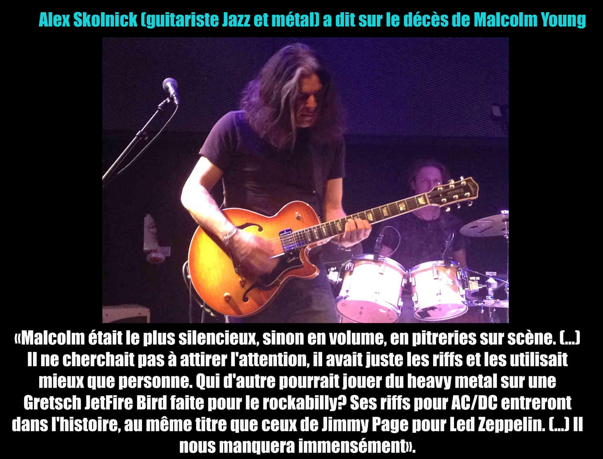 Alex Skolnick (guitariste Jazz et métal) a dit sur le décès de Malcolm Young ... Alex_s10