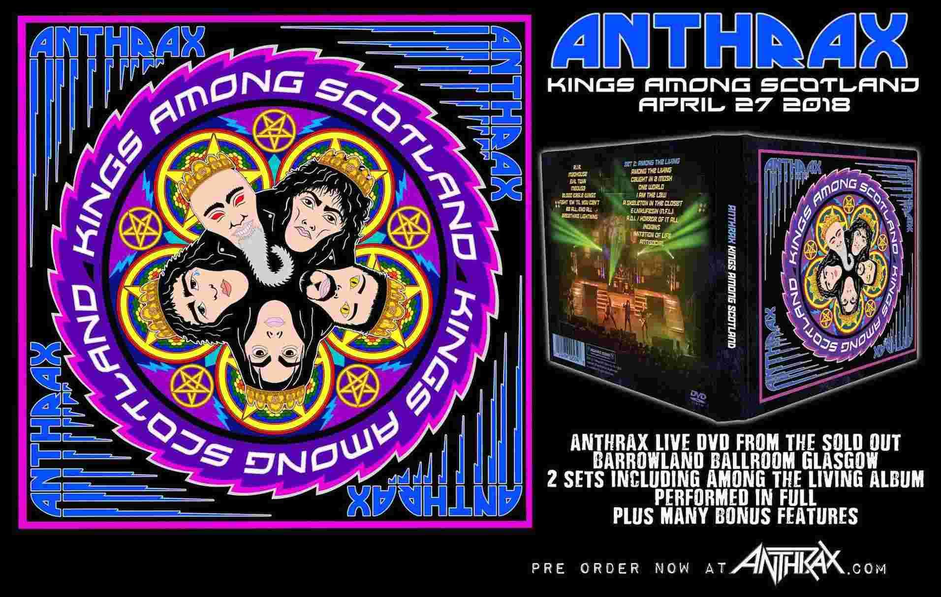 Nouveau DVD pour ANTHRAX : Kings Among Scotland (2018) Ant_ki10