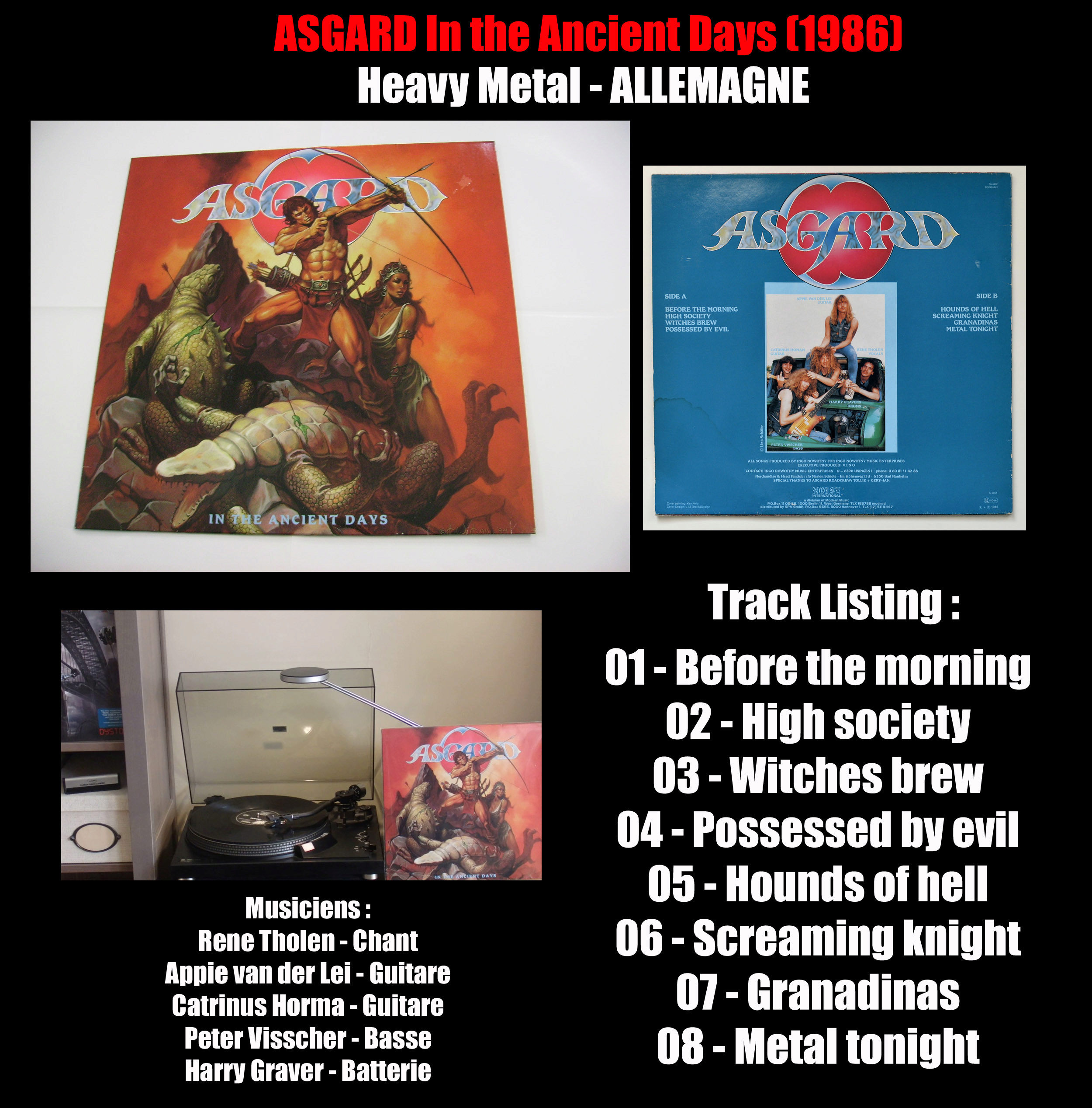 ASGARD In the Ancient Days (1986) HEAVY METAL Allemagne Asgard10