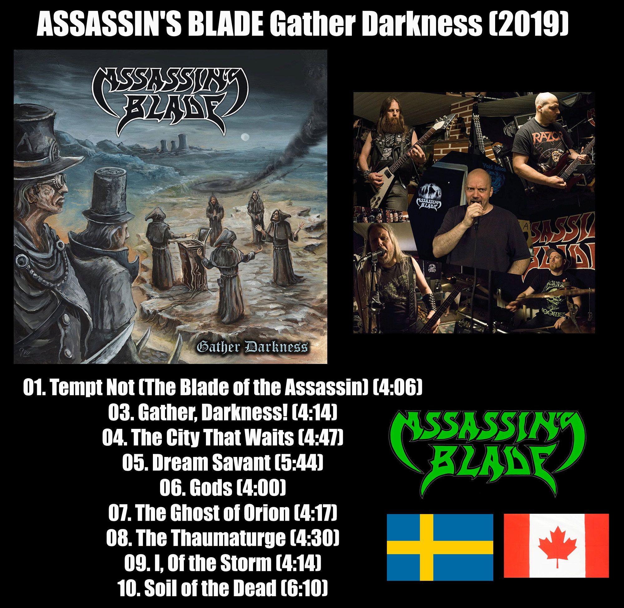 ASSASSIN'S BLADE Gather, Darkness (2019) Heavy/speed Suède/canada Assass11