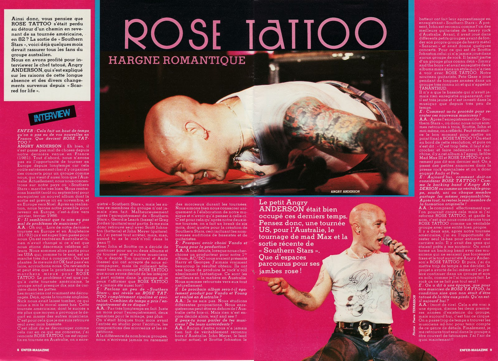 ROSE TATTOO Hargne romantique (Enfer Magazine) Archive à lire Bangry10