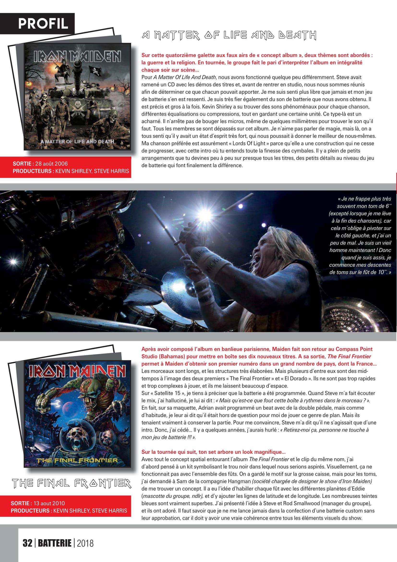 NICO McBrain interview sur Batterie Magazine Octobre/Novembre 2018 Batter18