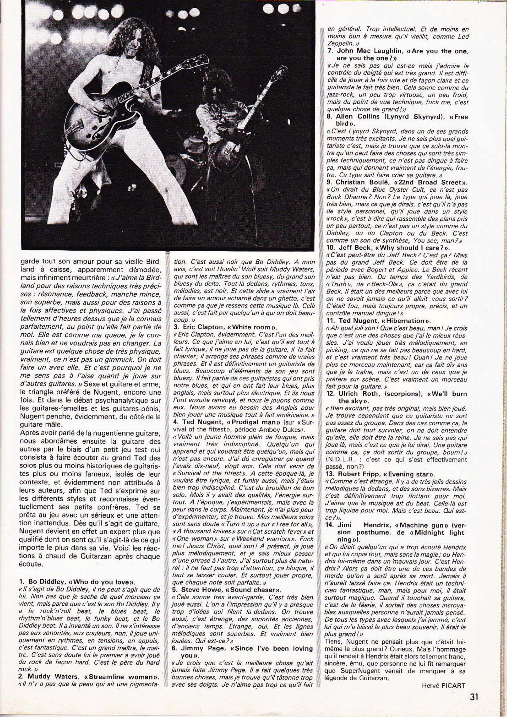 TED NUGENT dans BEST N°131 Juin 79 (Archive à lire) Best_113