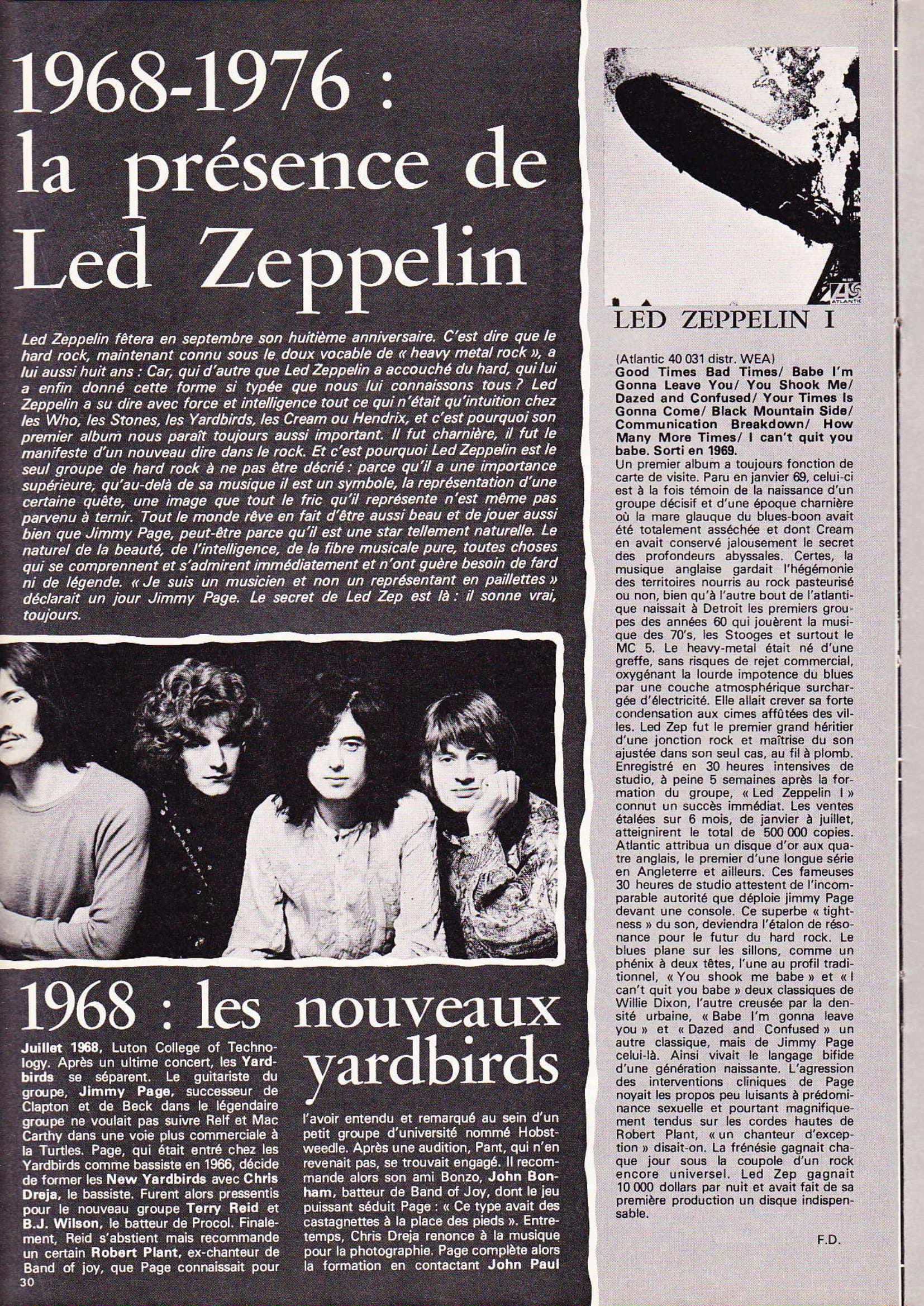 LED ZEPPELIN dans BEST N°93 Avril 1976 (Archive à lire) Best_915