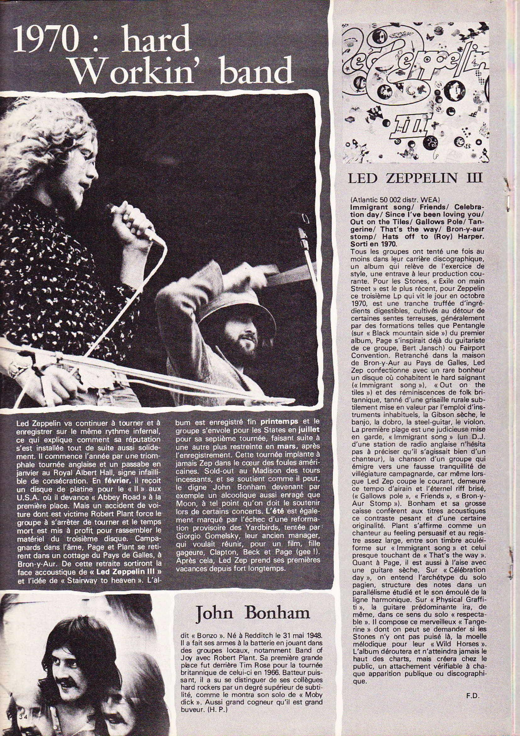 LED ZEPPELIN dans BEST N°93 Avril 1976 (Archive à lire) Best_918