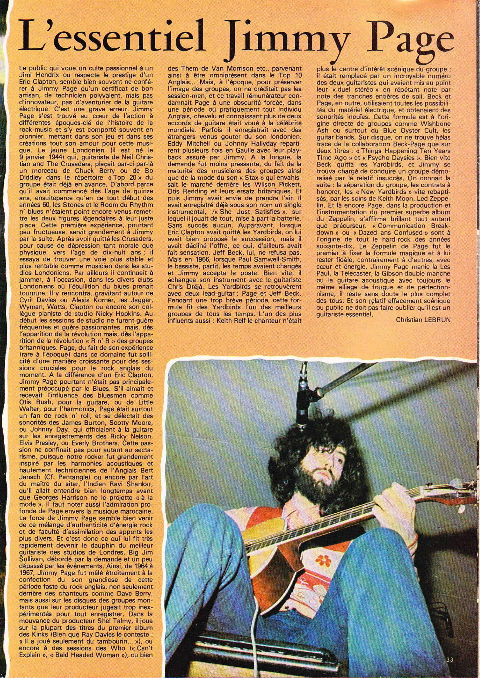LED ZEPPELIN dans BEST N°93 Avril 1976 (Archive à lire) Best_919