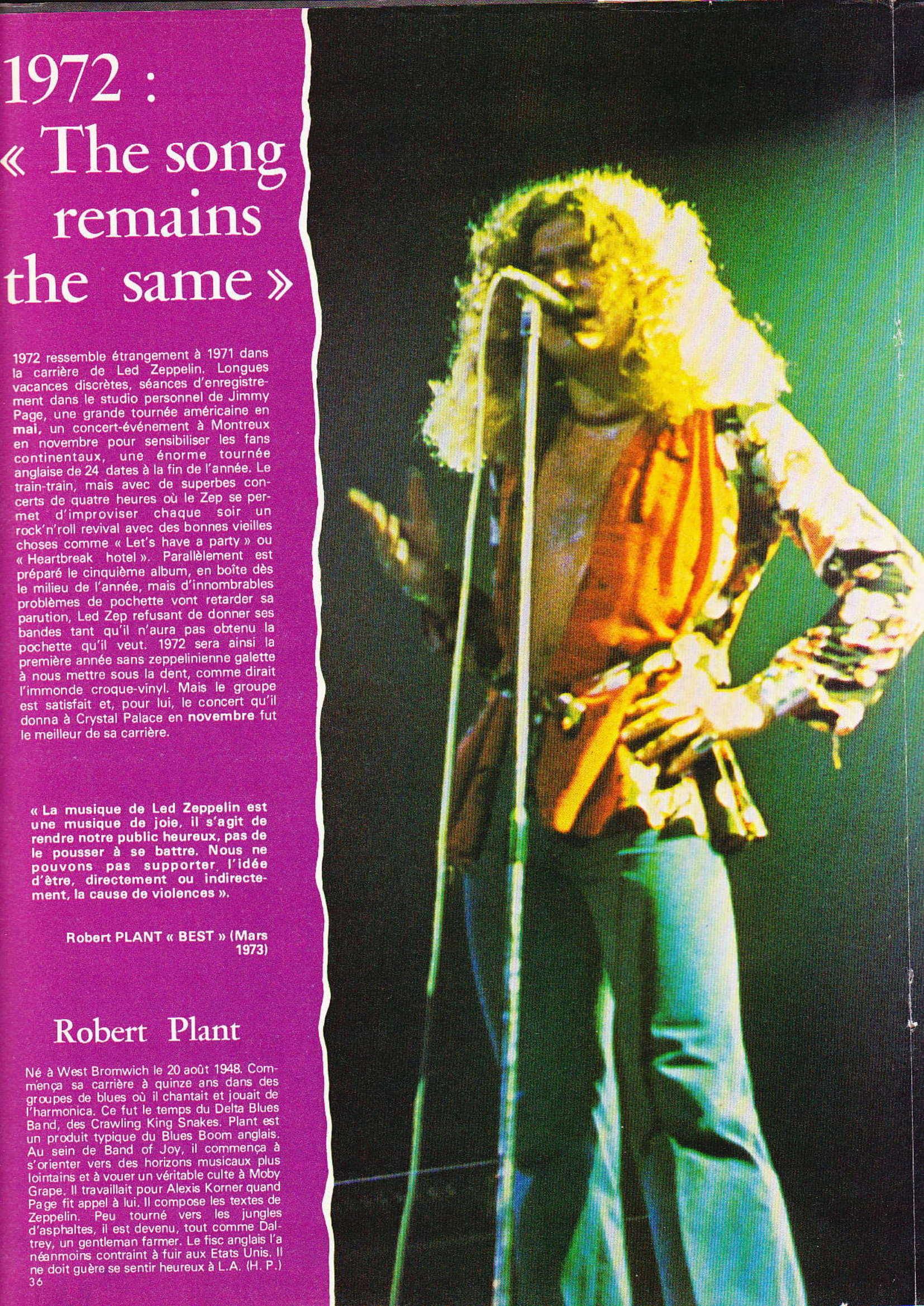 LED ZEPPELIN dans BEST N°93 Avril 1976 (Archive à lire) Best_921