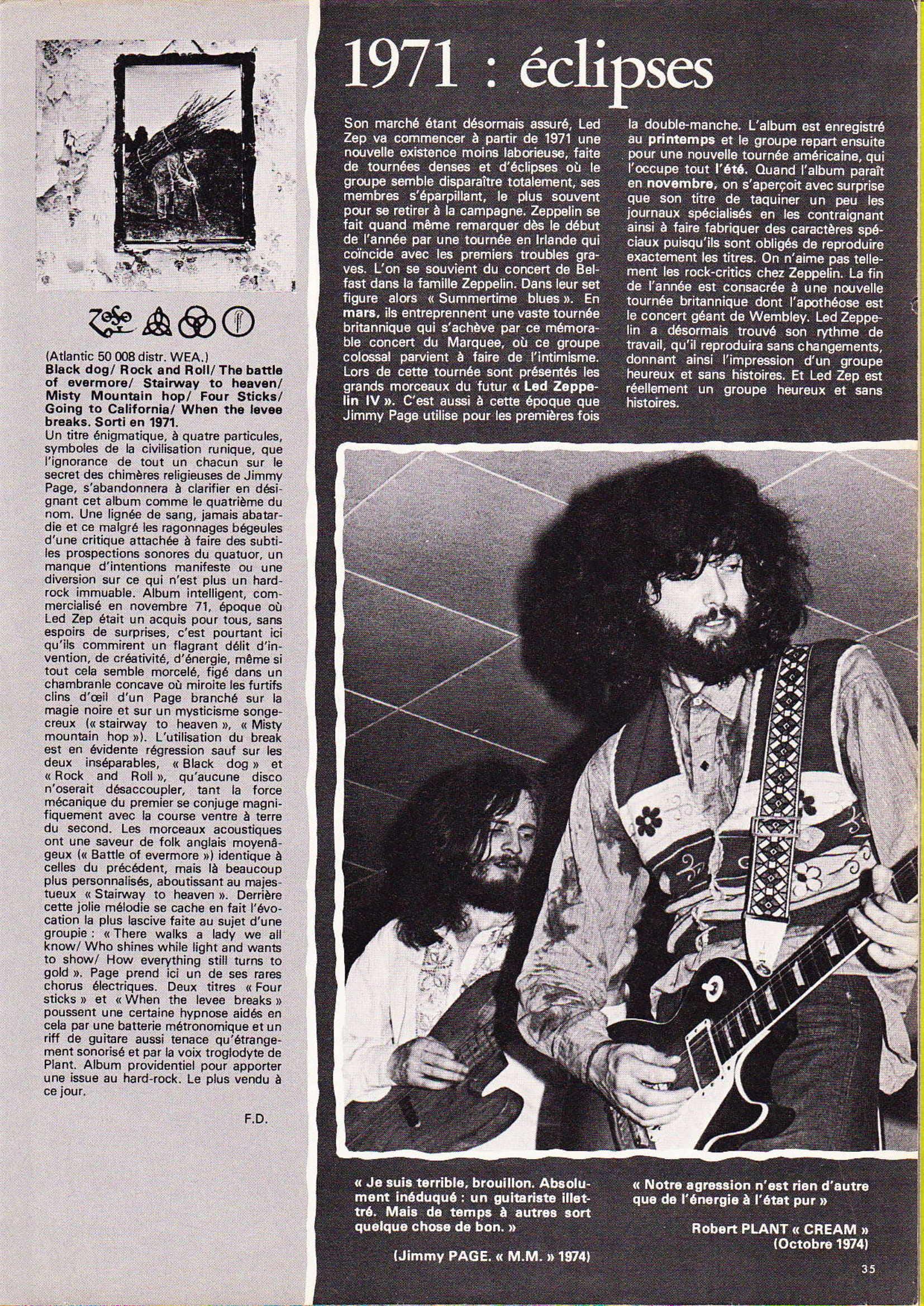 LED ZEPPELIN dans BEST N°93 Avril 1976 (Archive à lire) Best_922