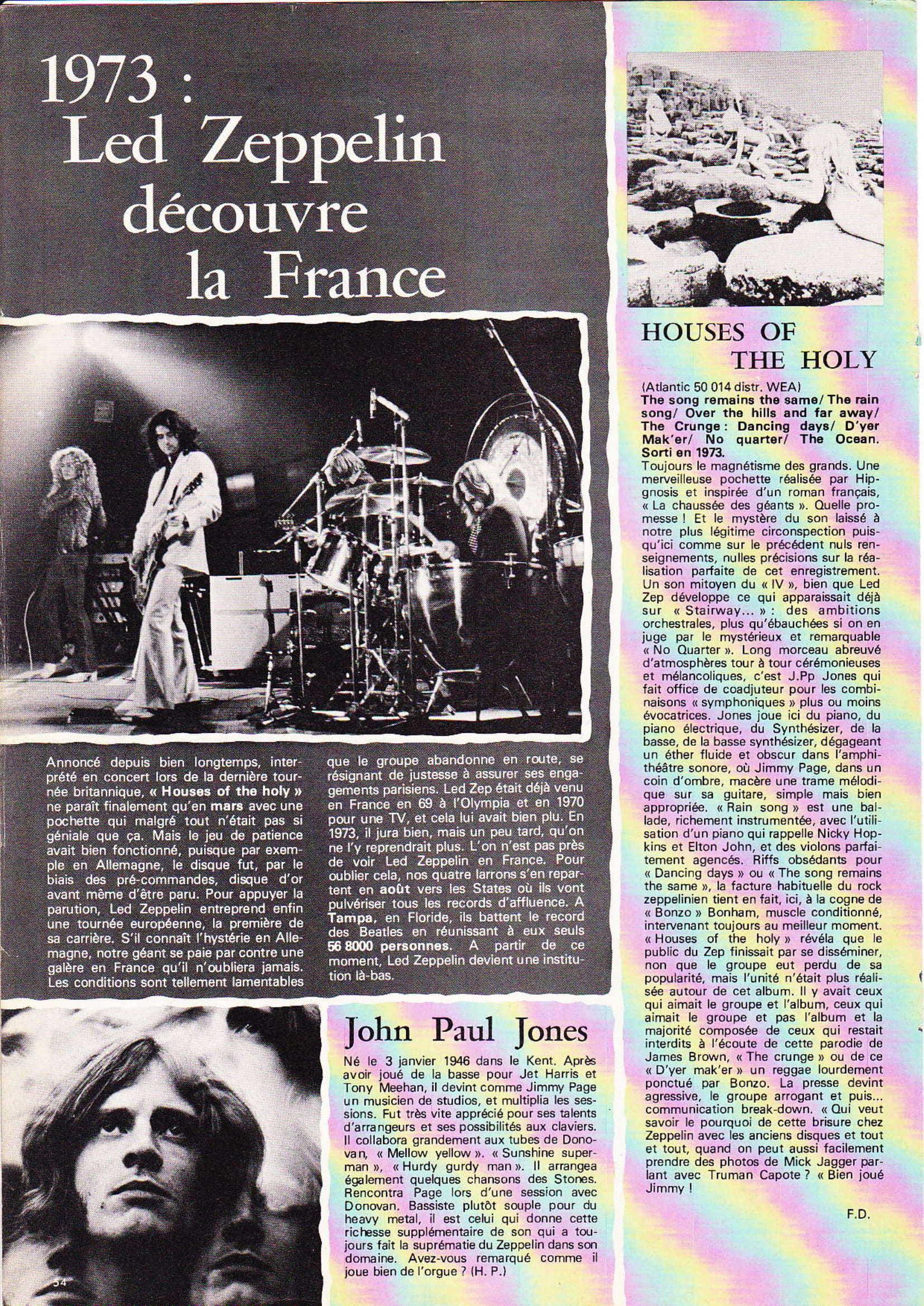 LED ZEPPELIN dans BEST N°93 Avril 1976 (Archive à lire) Best_924