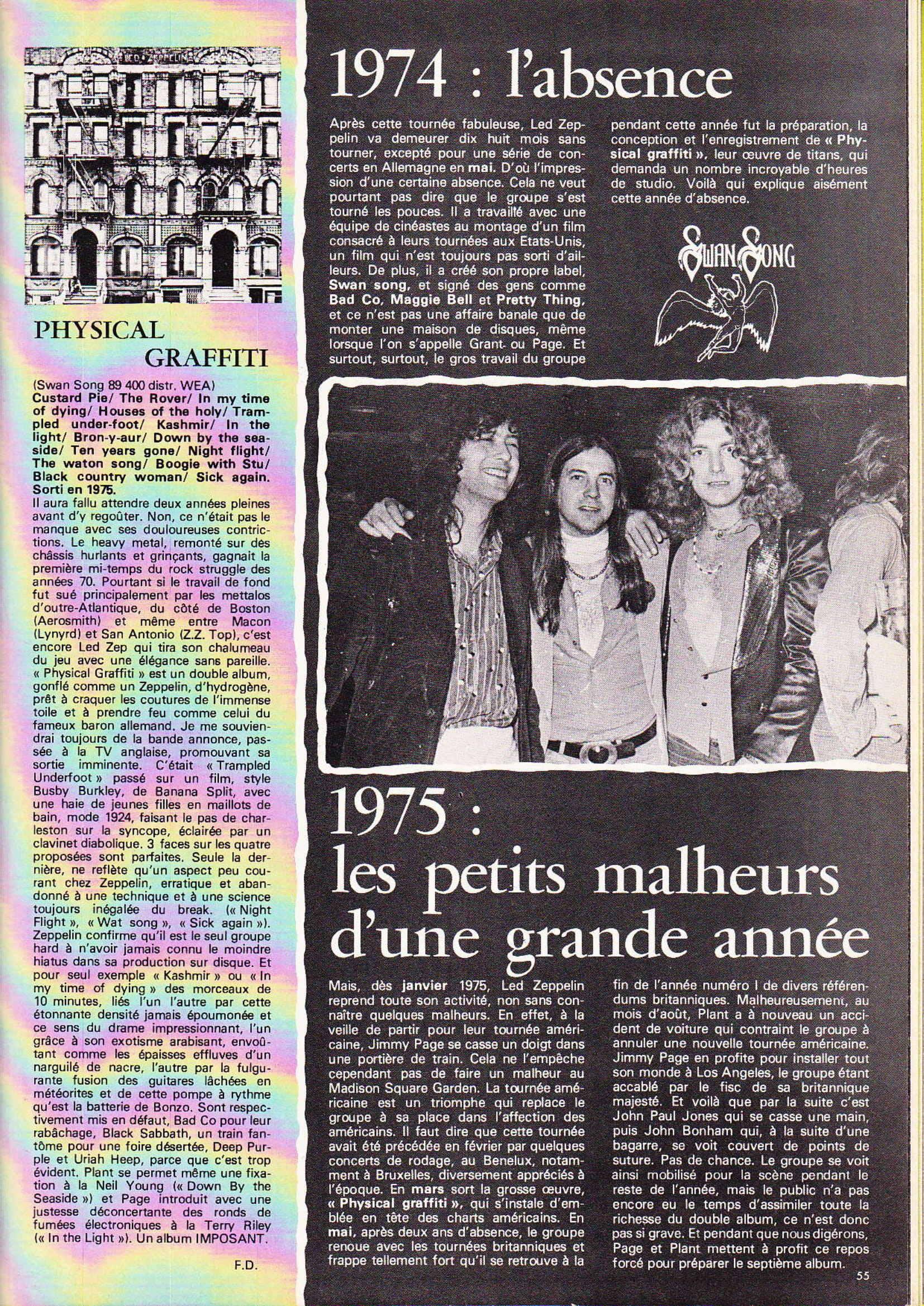 LED ZEPPELIN dans BEST N°93 Avril 1976 (Archive à lire) Best_925