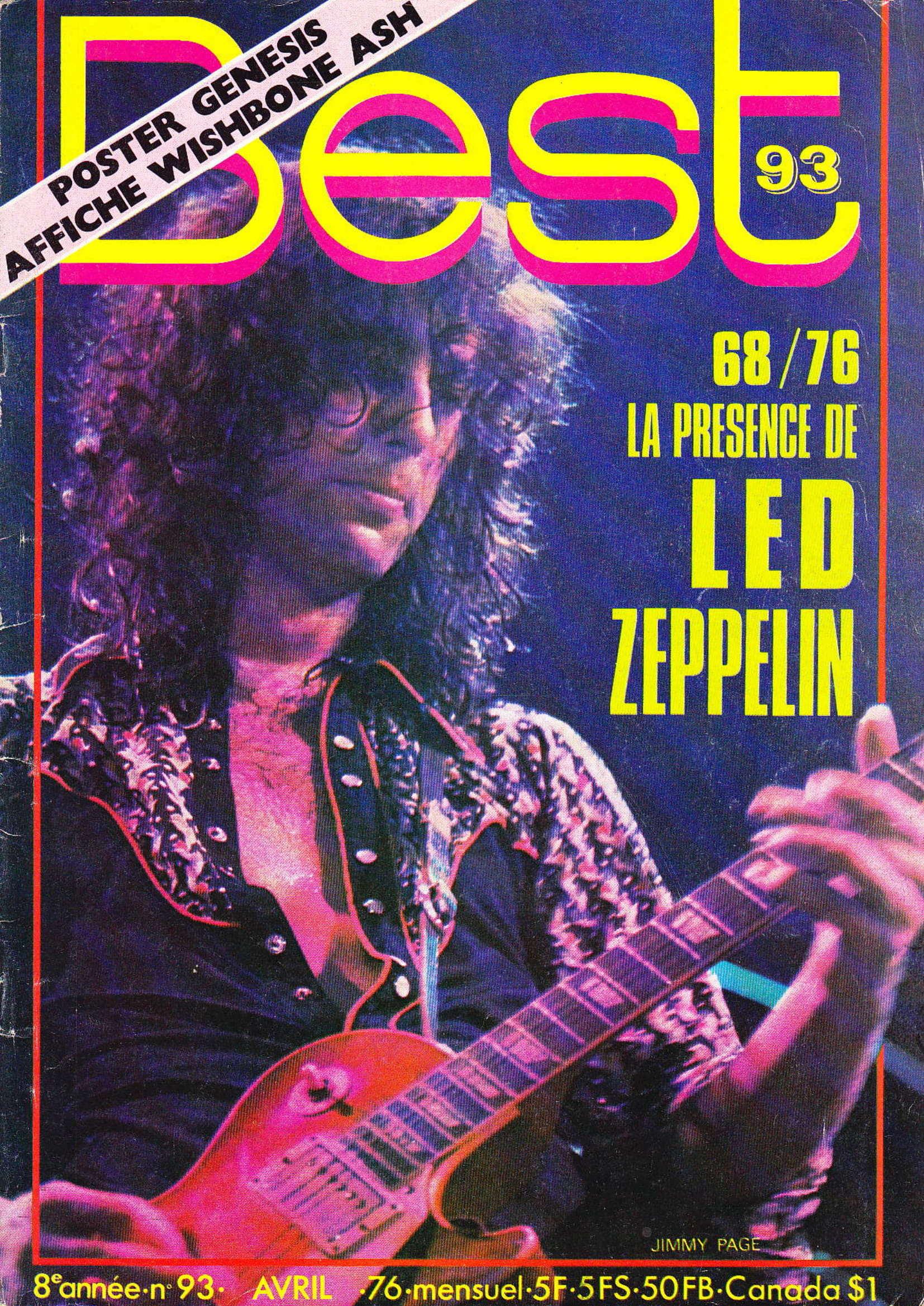LED ZEPPELIN dans BEST N°93 Avril 1976 (Archive à lire) Best_926