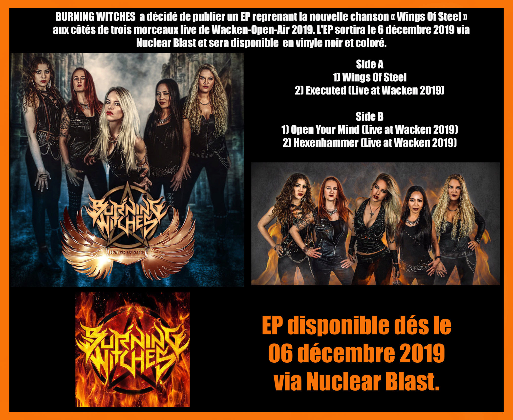 BURNING WITCHES Hexenhammer (2018) Heavy Metal SUISSE Burnin14