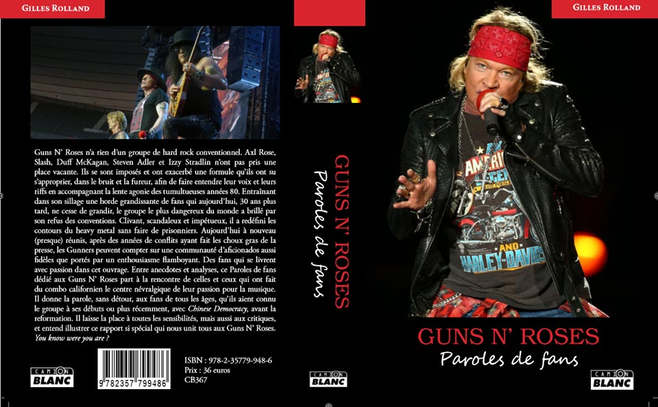 GUNS N'ROSES Paroles de fan Editions du CAMION BLANC Camion10
