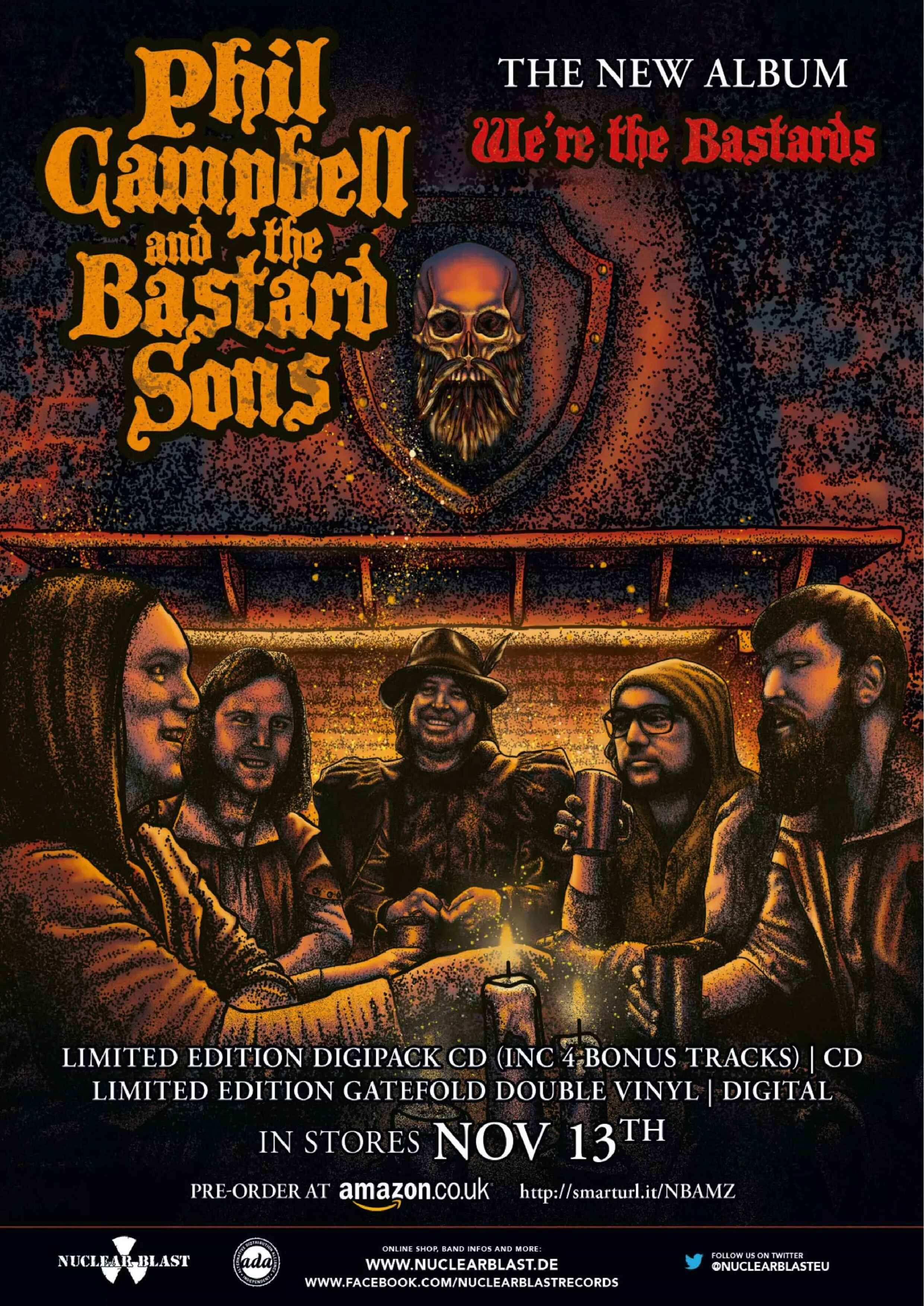 """Phil Campbell And The Bastard Sons""""We're The Bastards"""" le 13 novembre 2020  Cl_ic_10"""