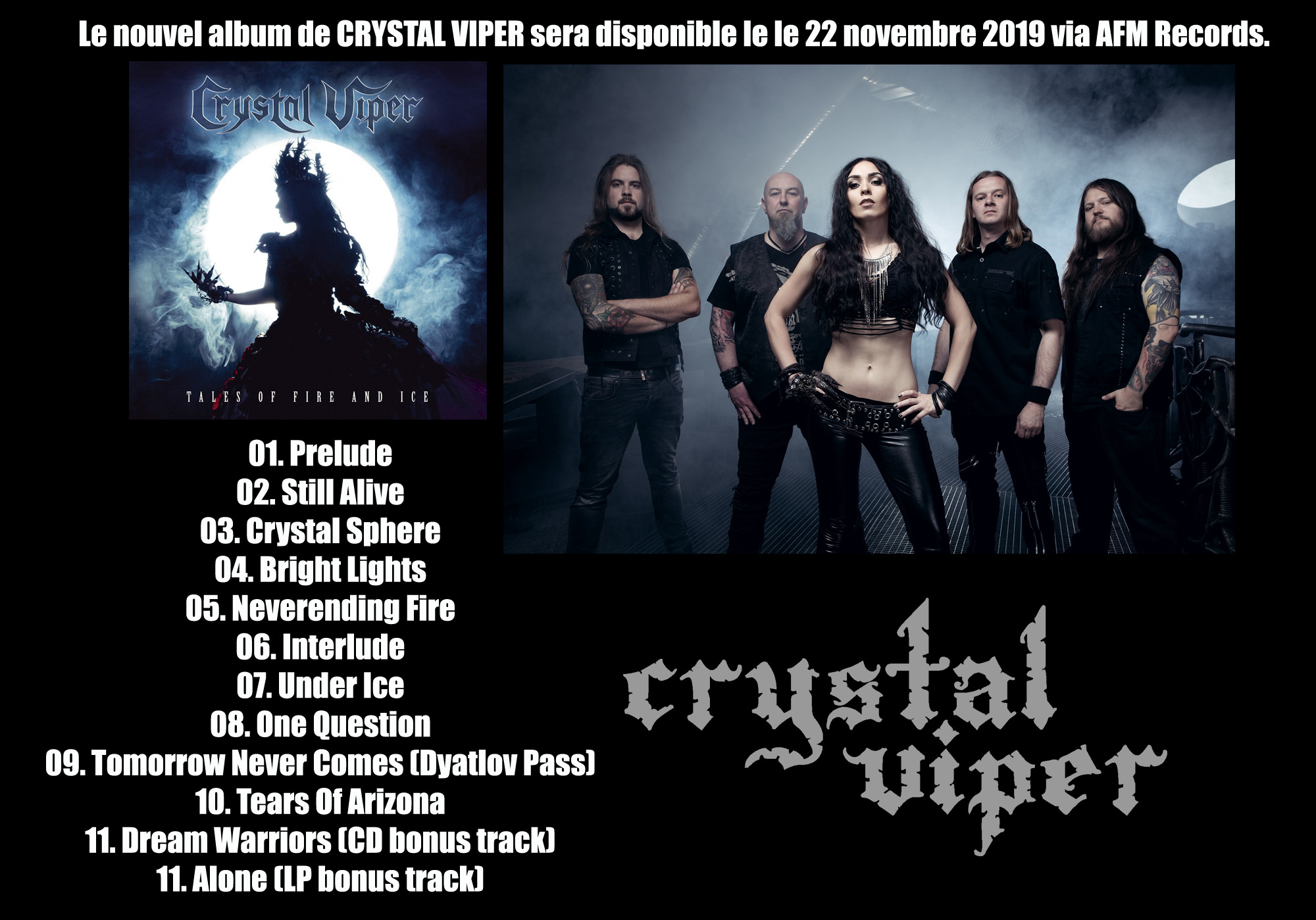 CRYSTAL VIPER Tales of Fire and Ice (2019) Heavy Metal Crysta12