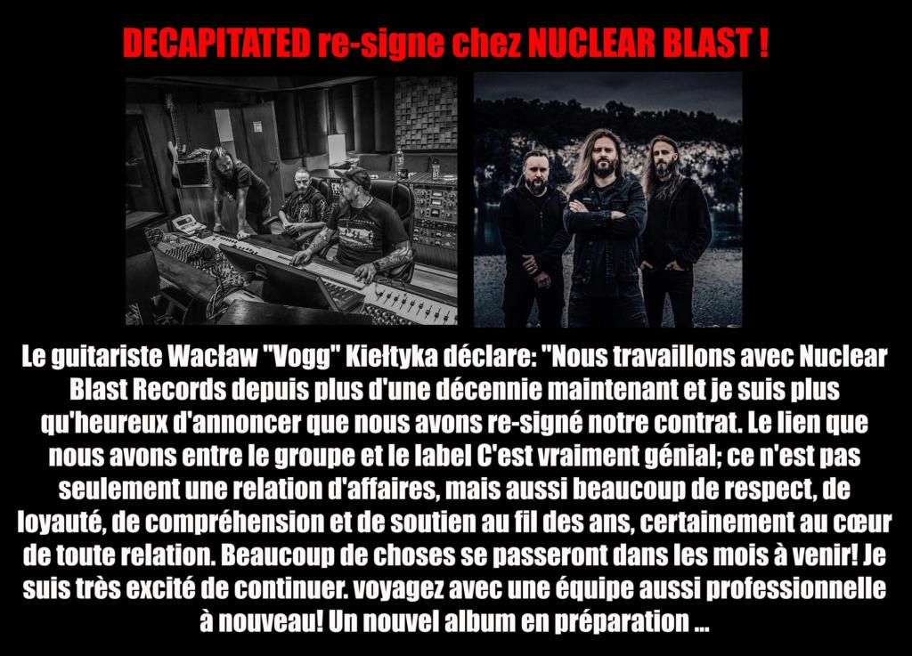 DECAPITATED reste chez Nuclear Blast ... Decapi12