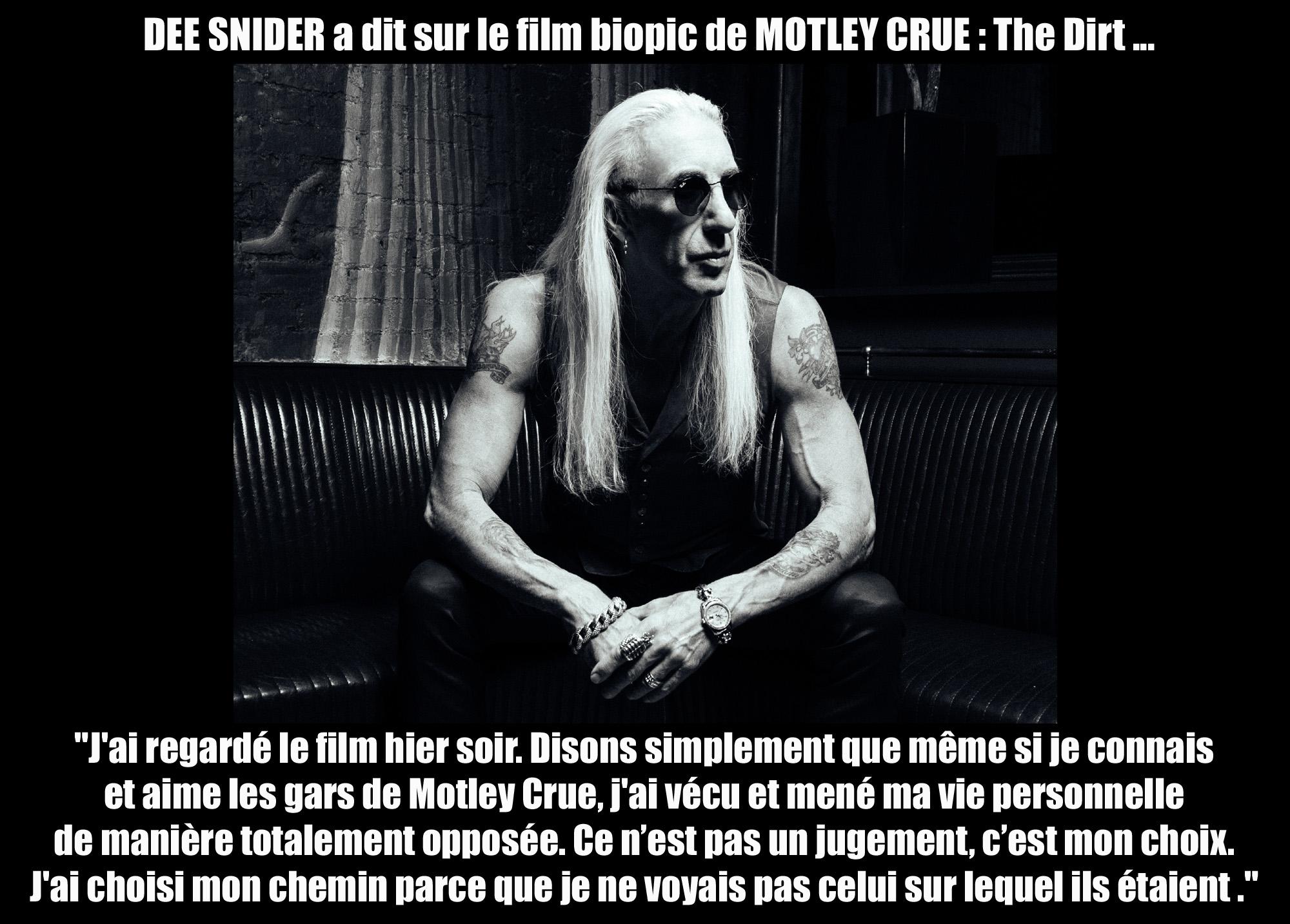 DEE SNIDER a dit ... sur le film biopic de Mötley Crüe : THE DIRT. Dee_sn10