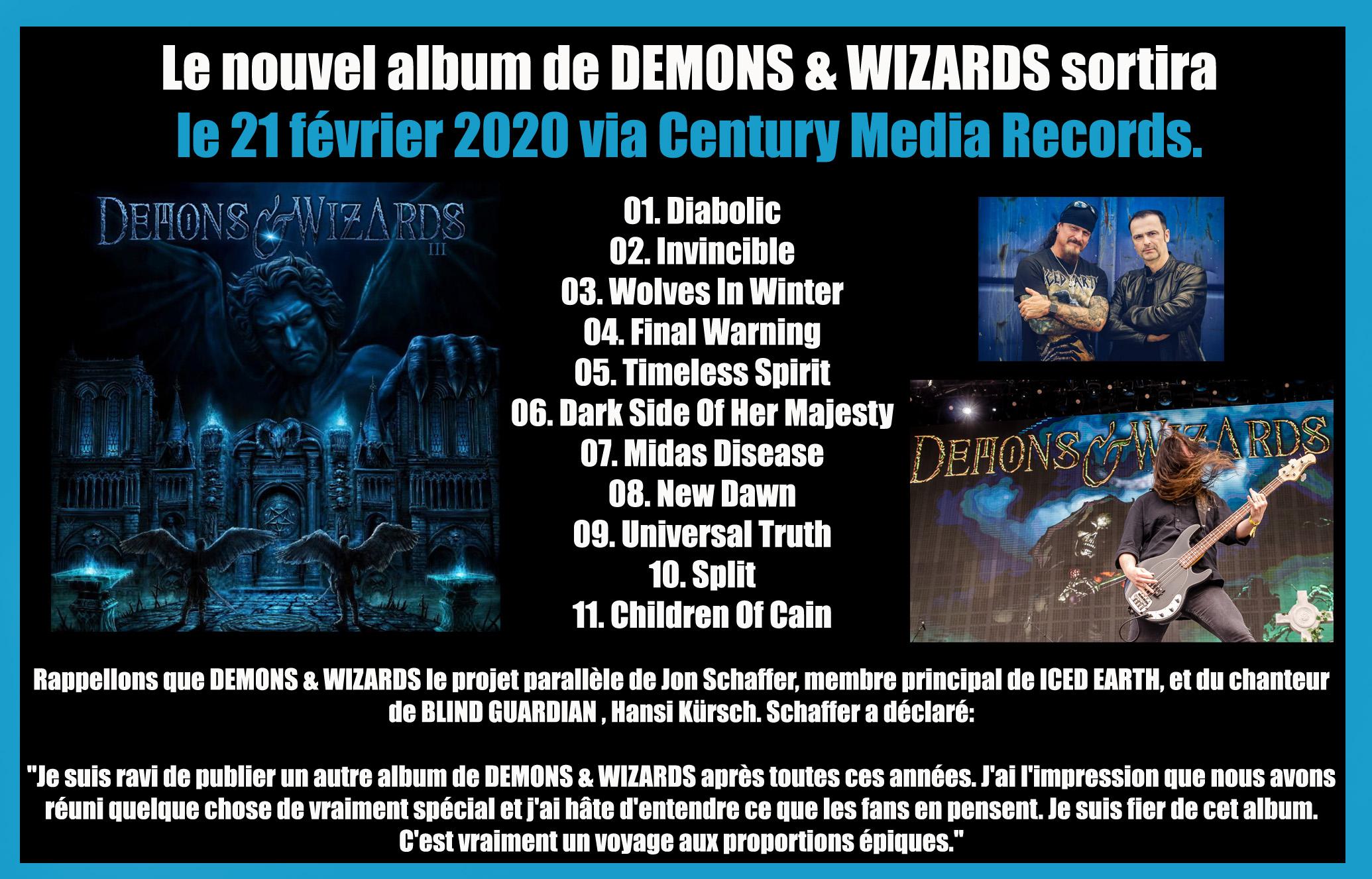 DEMONS & WIZARDS III (2020) Metal Symphonic Allemagne Demons10