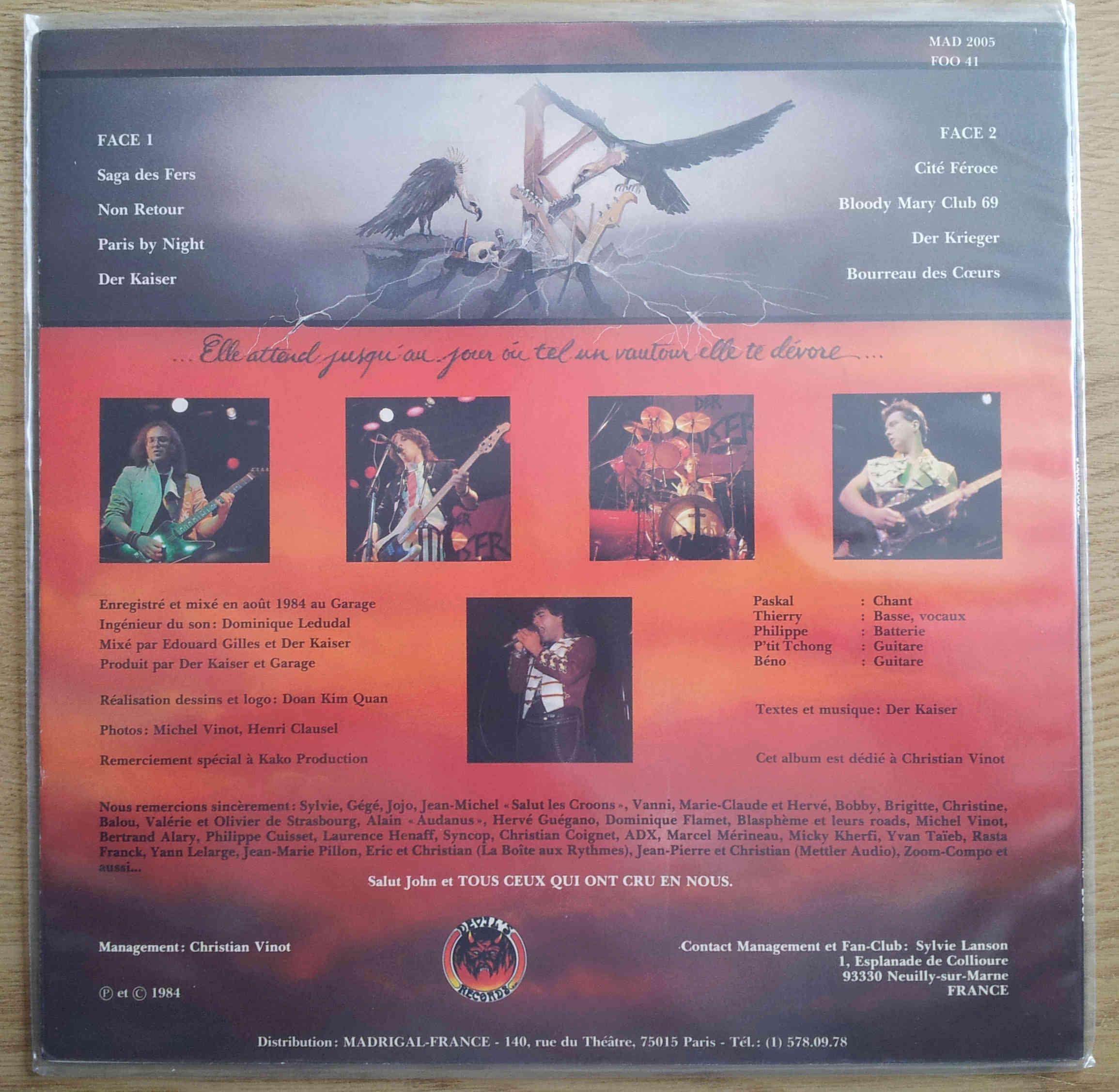 DER KAISER toutes les paroles de l'album : VAUTOURS (1984) Der_ka15
