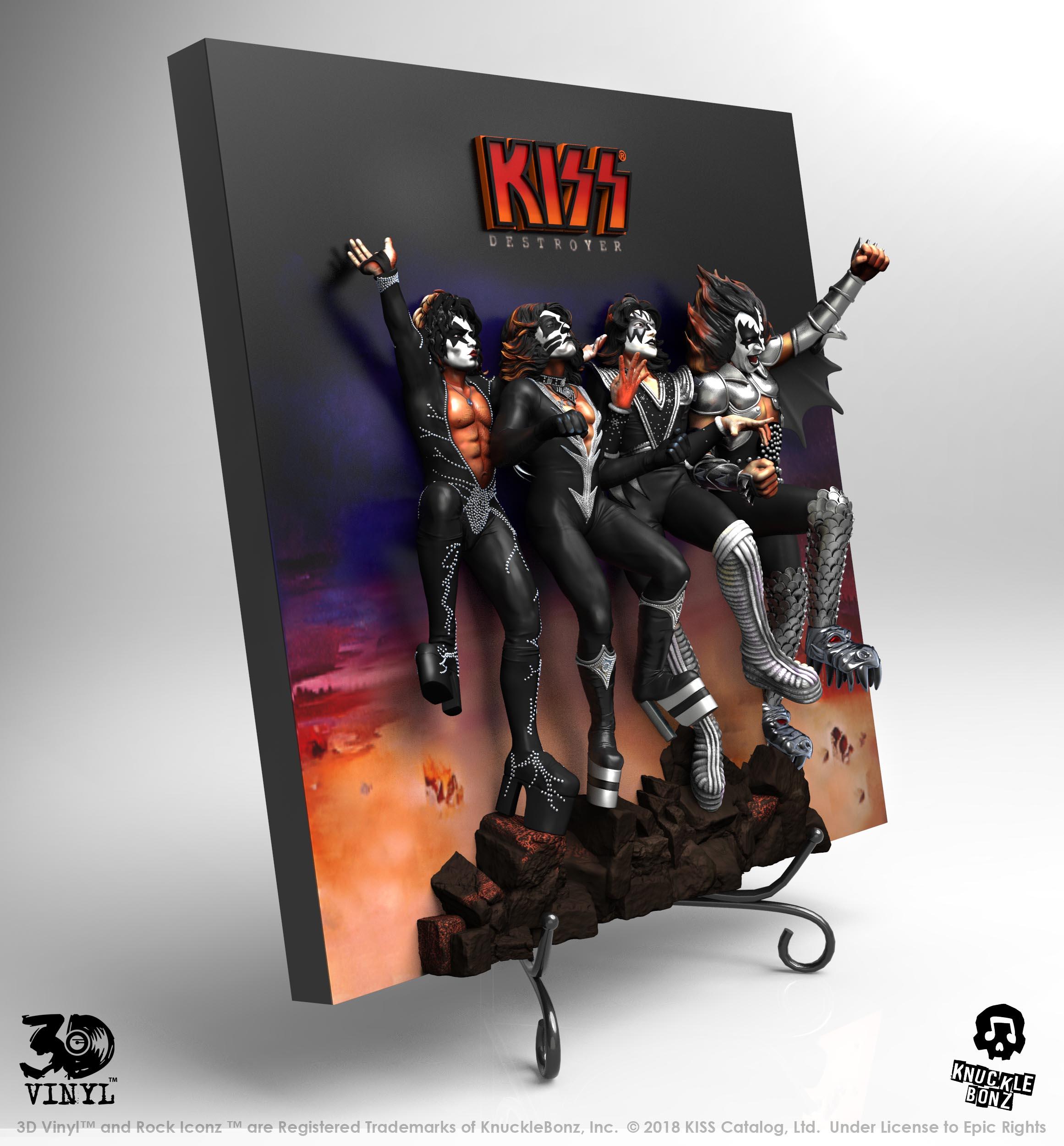 KISS en vinyle 3D et c'est plutôt réussi ... Destro12